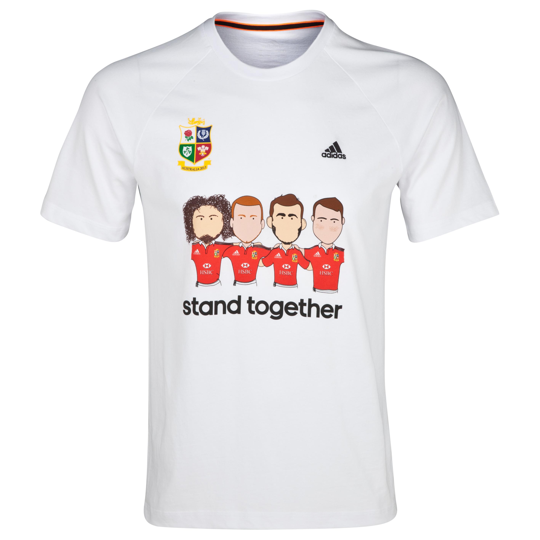 British & Irish Lions adidas Campaign T-Shirt White