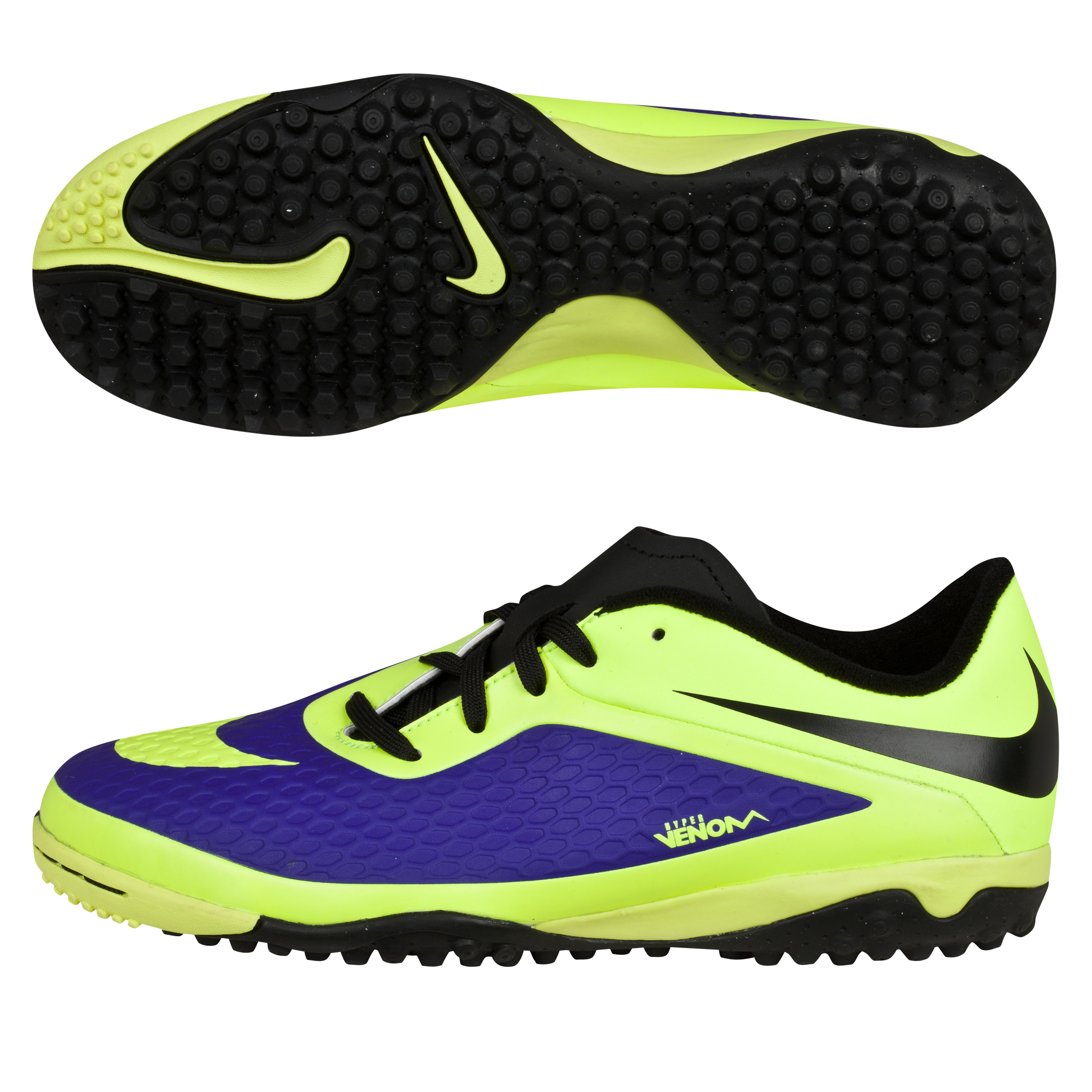 Nike Hypervenom Phelon Astroturf Trainers - Kids-Electro Purple/Volt/Black Lt Green