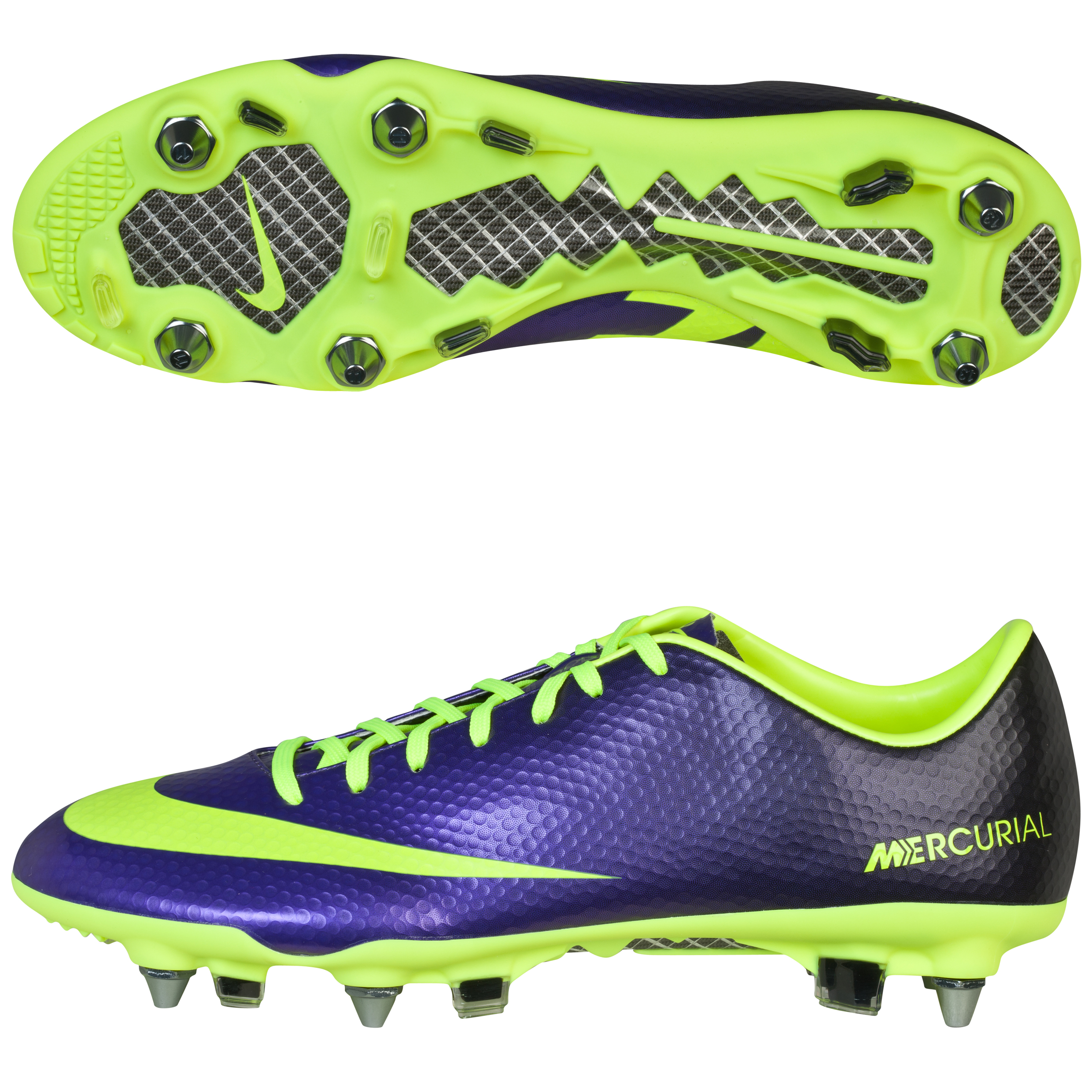 Nike Mercurial Vapor Ix Soft Ground Pro Football Boots  Electro PurpleVoltBlack Purple
