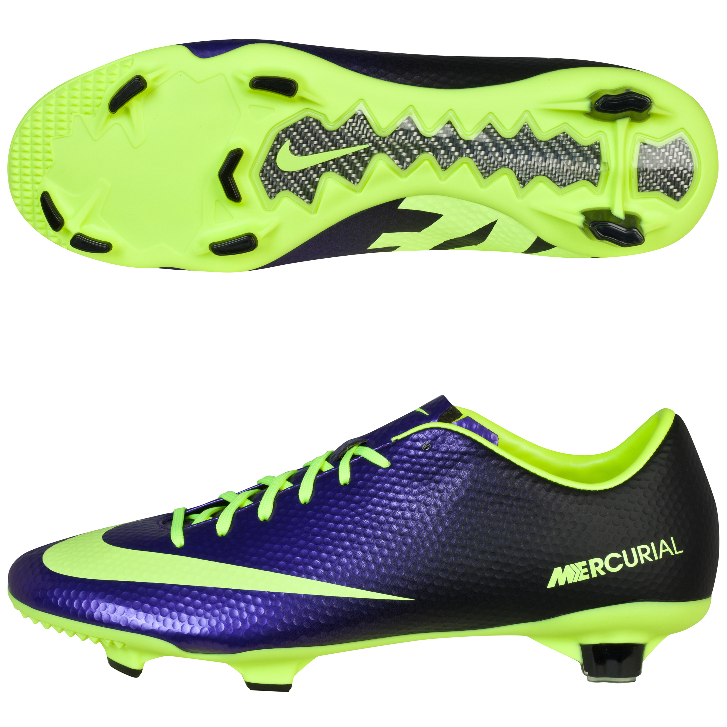 Nike Mercurial Veloce Firm Ground Football Boots -Electro Purple/Volt/Black Purple