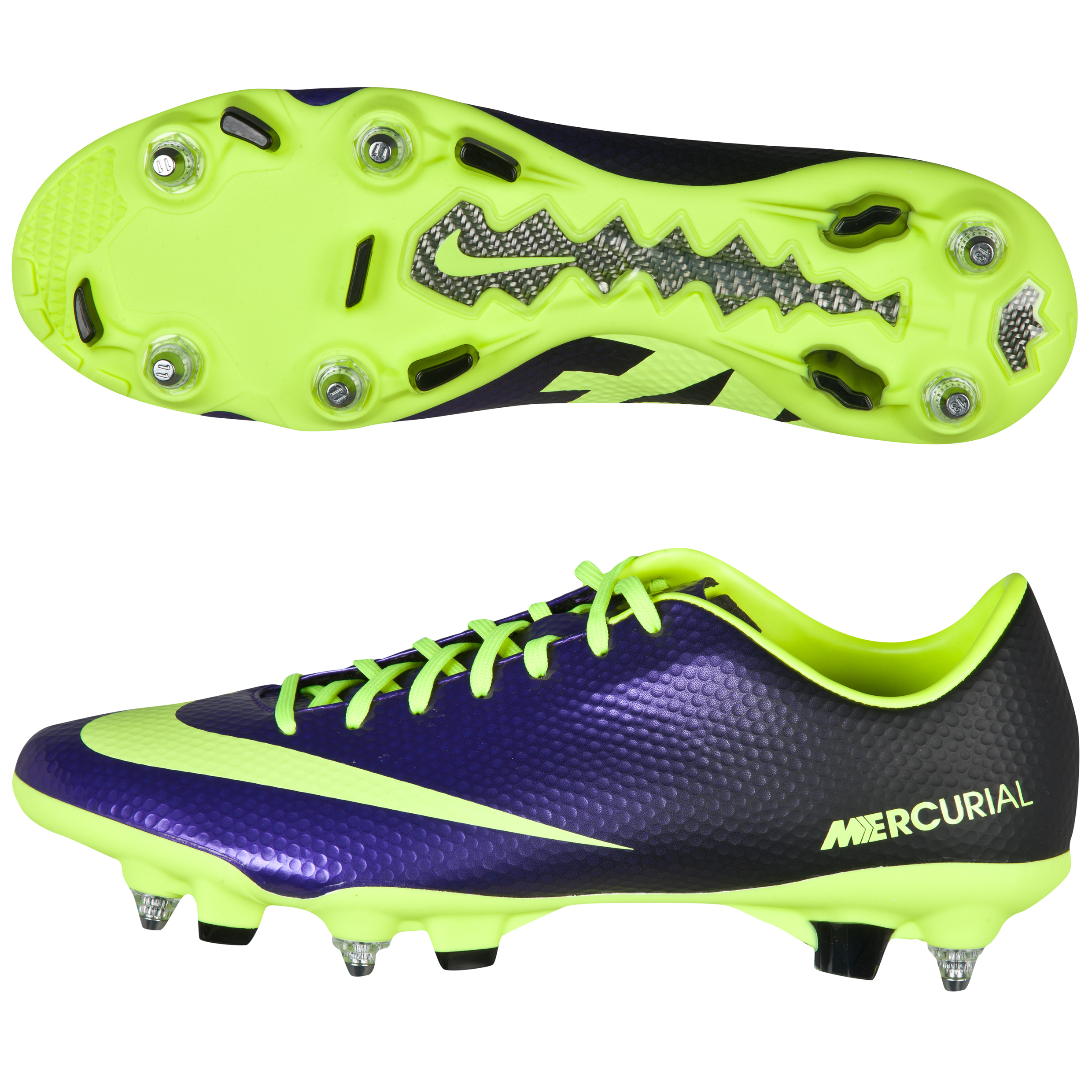 Nike Mercurial Veloce Soft Ground Pro Football Boots - Electro Purple/Volt/Black Purple