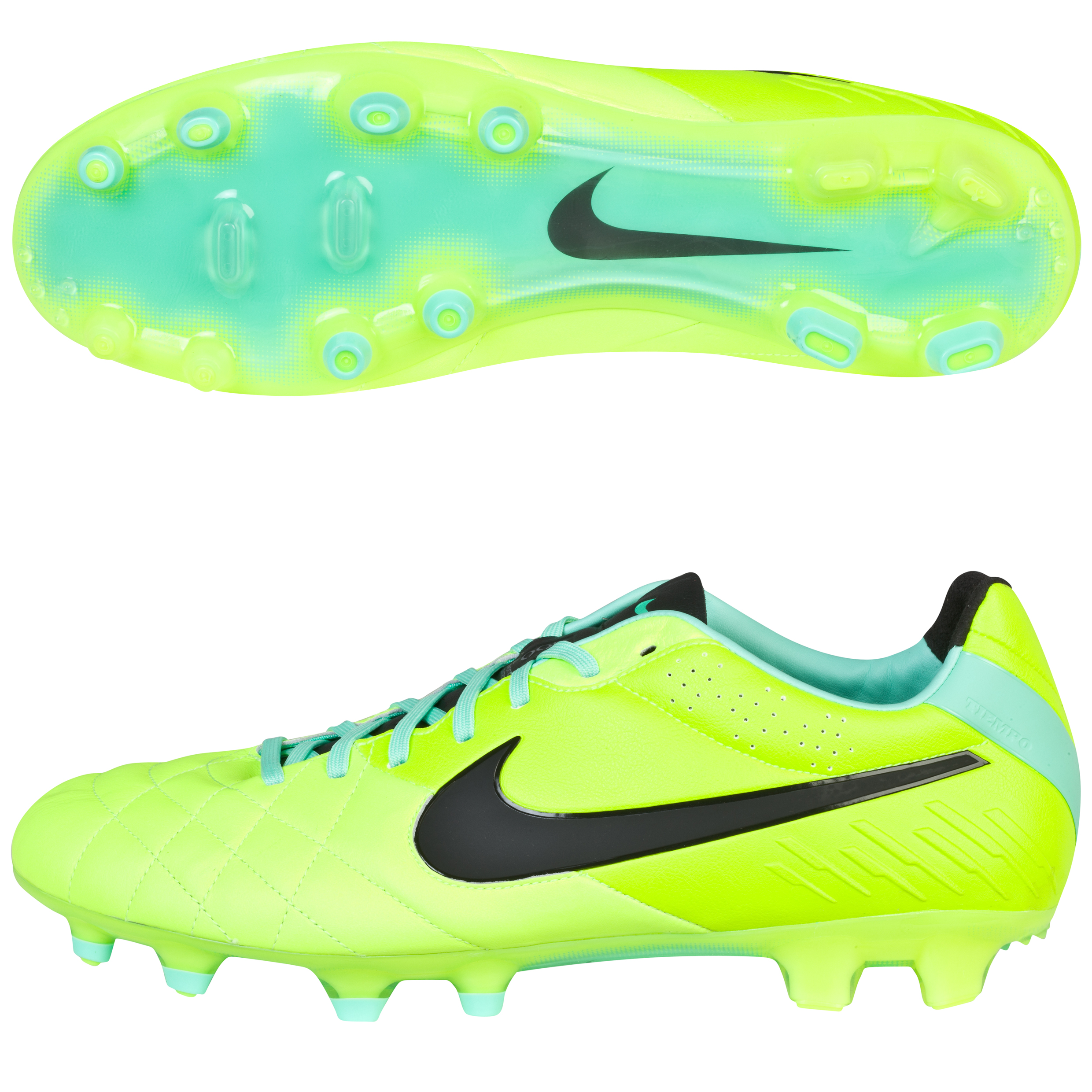 Nike Tiempo Legend Iv Firm Ground Football Boots -Volt/Black/Green Glow Lt Green