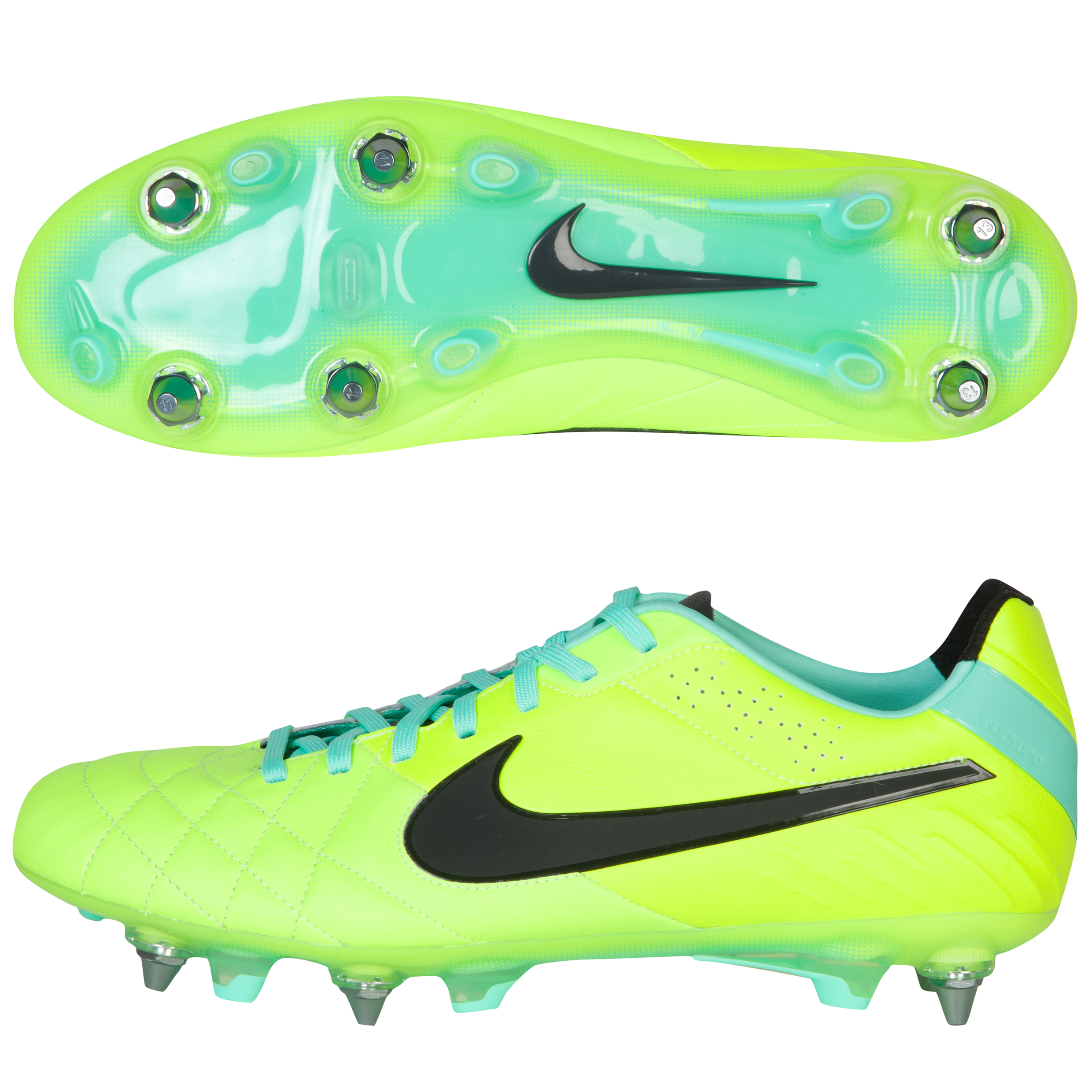 Nike Tiempo Legend Iv Soft Ground-Pro Football Boots - Volt/Black/Green Glow Lt Green