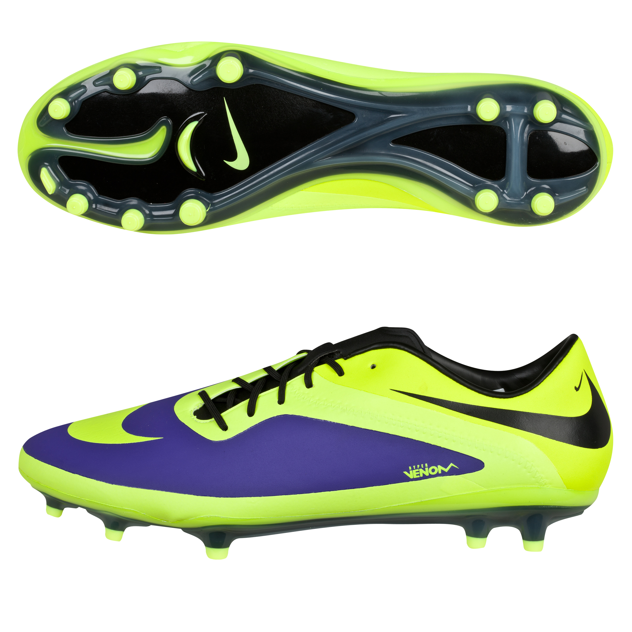Nike Hypervenom Phatal Firm Ground Football Boots -Electro Purple/Volt/Black Purple
