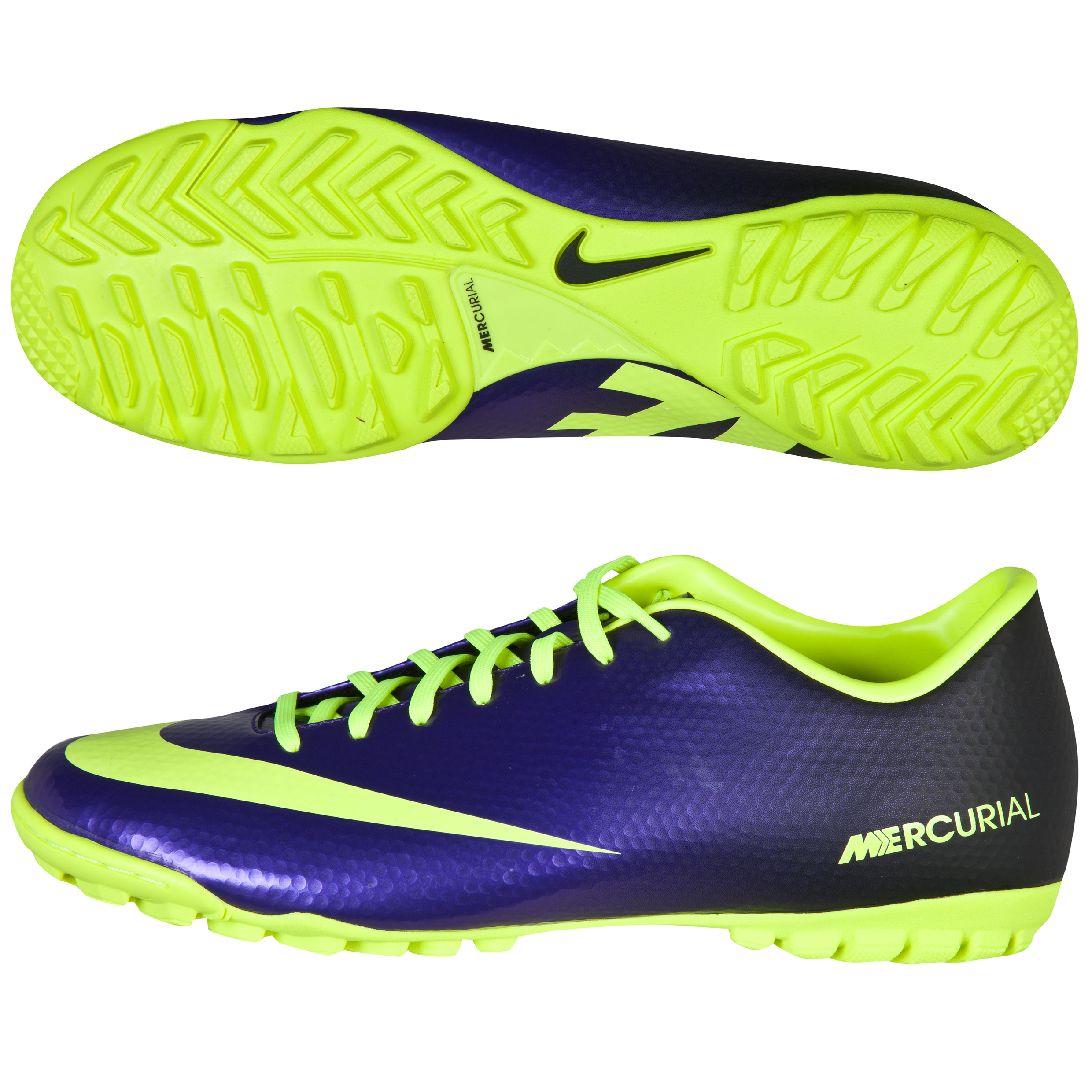 Nike Mercurial Victory Iv Astroturf Trainers - Electro Purple/Volt/Black Purple