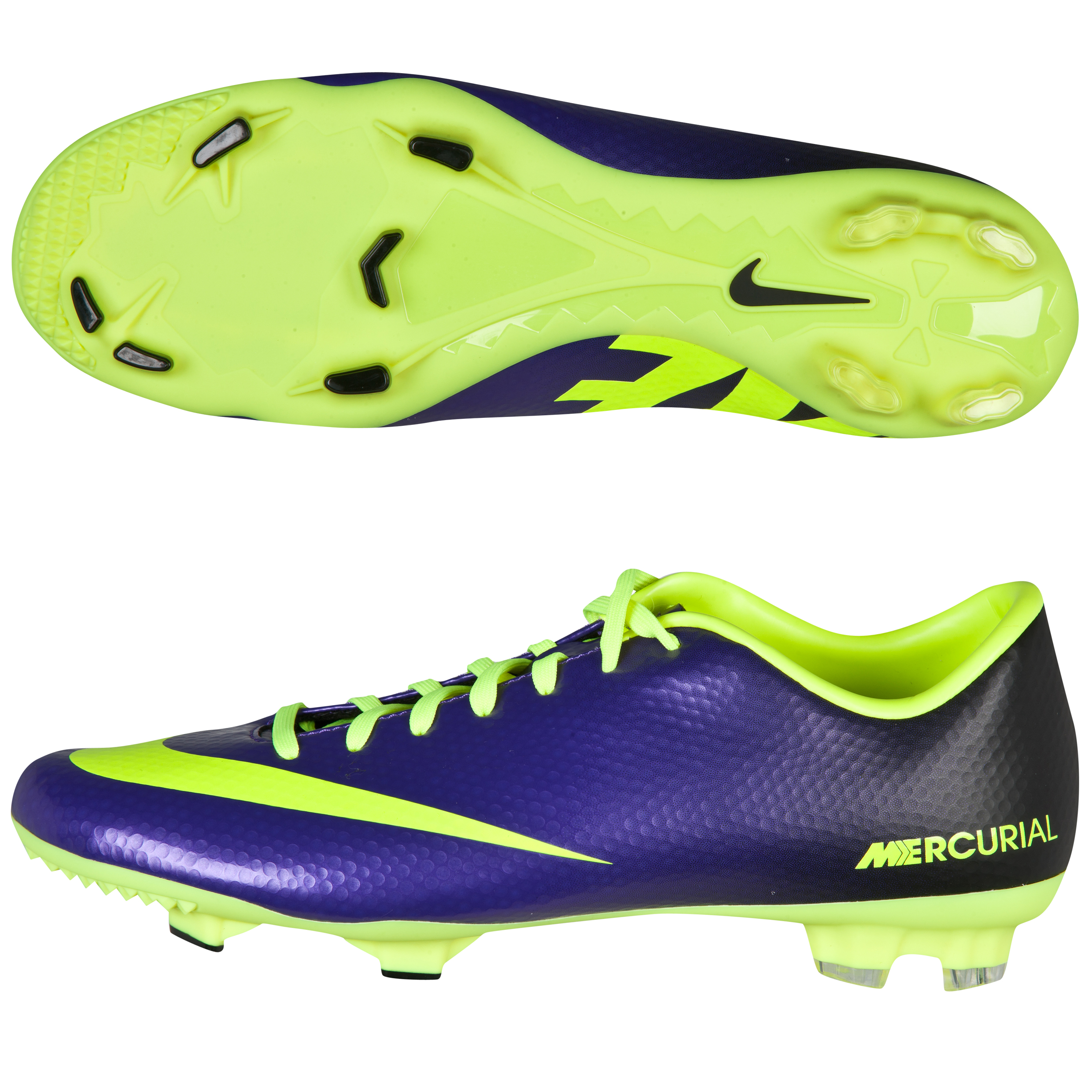 Nike Mecurial Victory lv Firm Ground Football Boots - Electro Purple /Volt /Black Purple