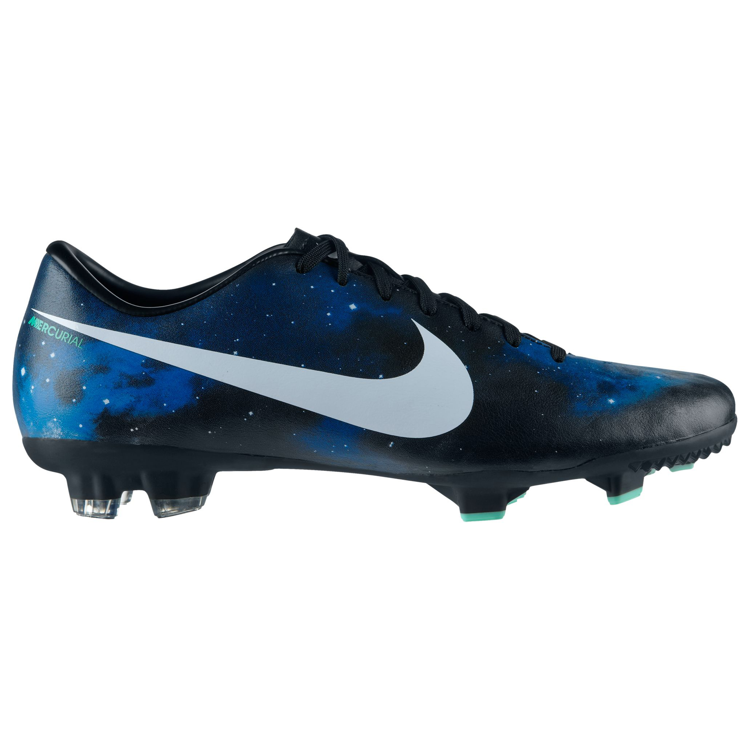 Nike Mercurial Victory IV CR Firm Ground Football Boots- Dark Obsidian/Metallic Plantinum/Green Glow/Black Navy