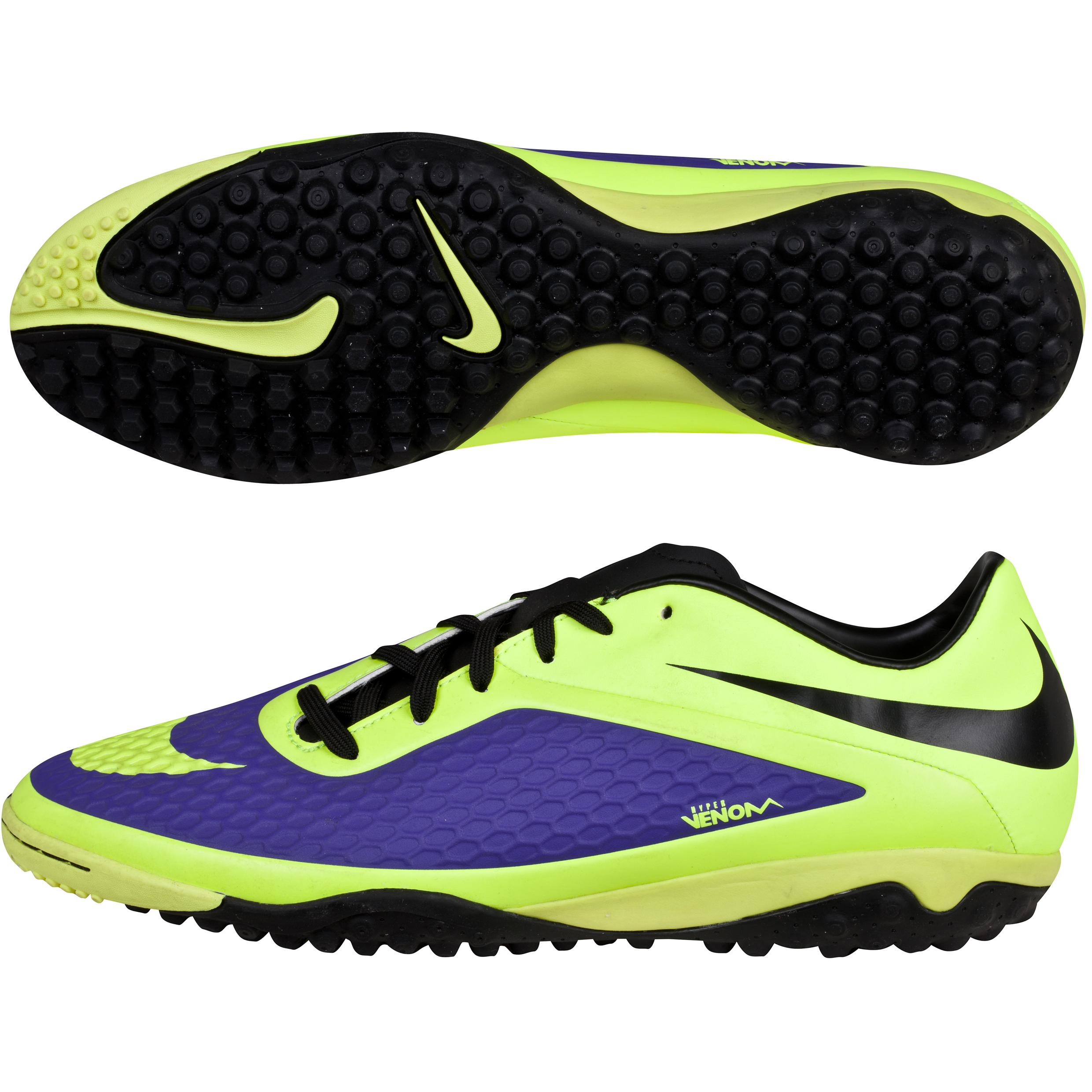 Nike Hypervenom Phelon Astroturf Trainers -Electro Purple/Volt/Black Purple