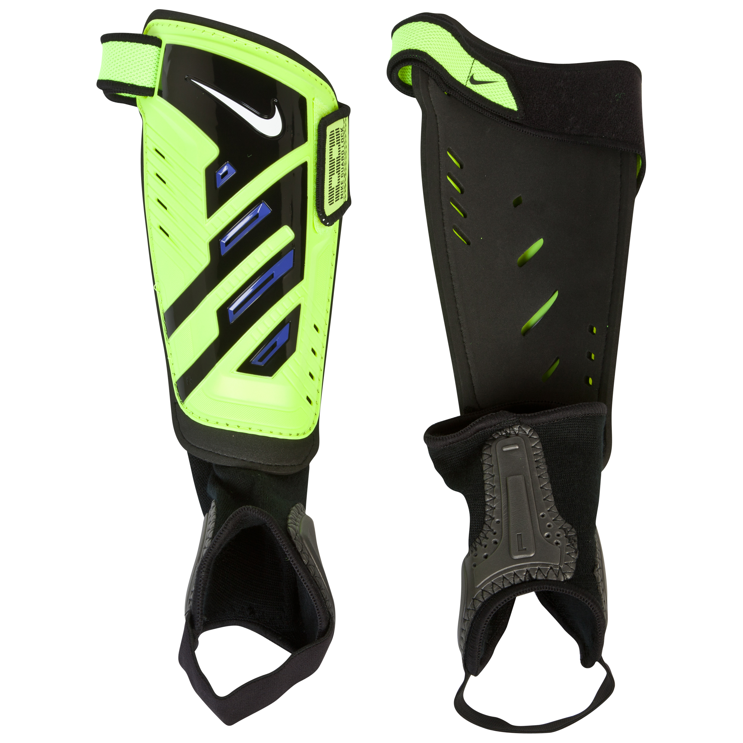 Nike Protegga Shield Shinguards - Volt/Purple/White Lt Green