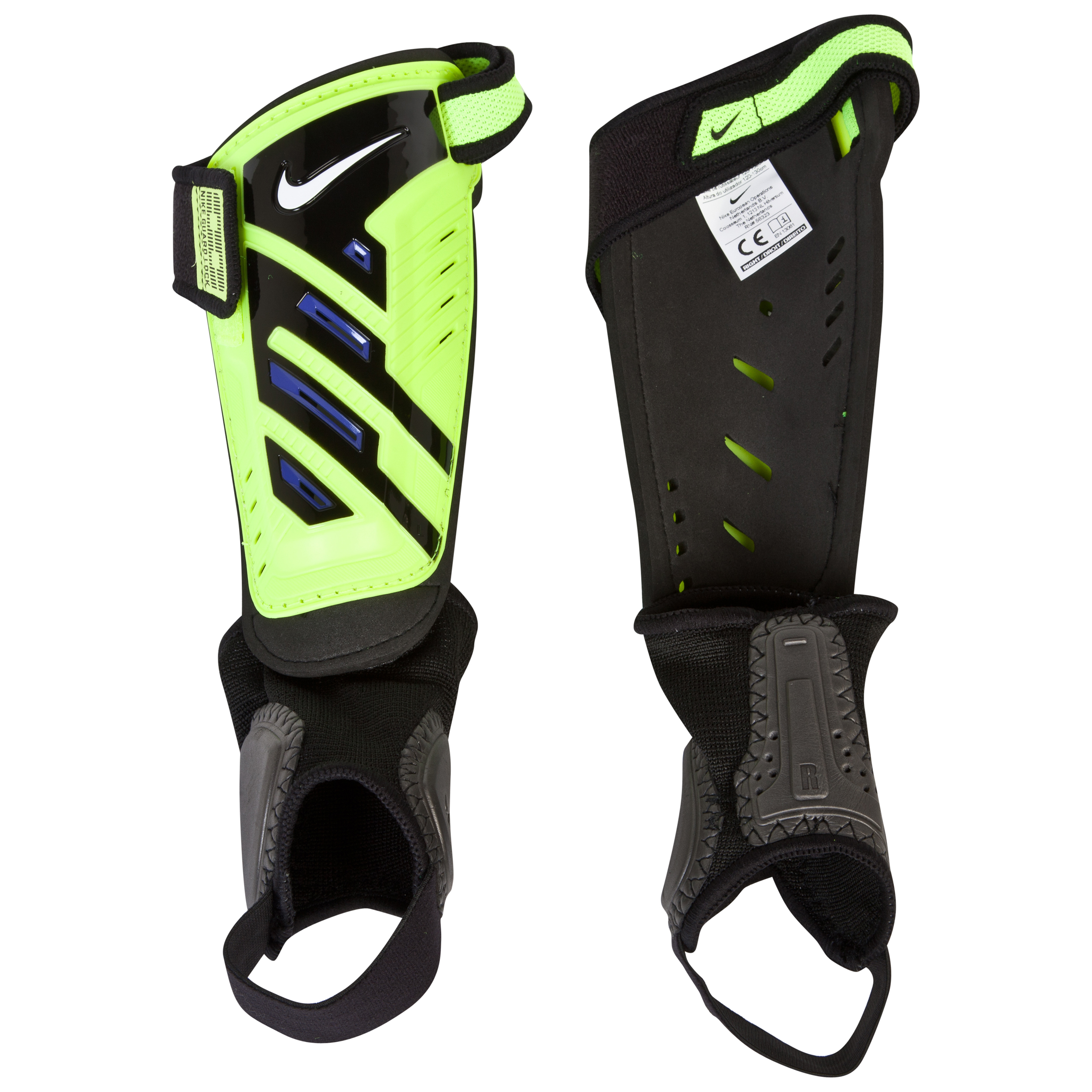 Nike Protegga Shield Shinguards- - Kids - Volt/Purple/White Lt Green