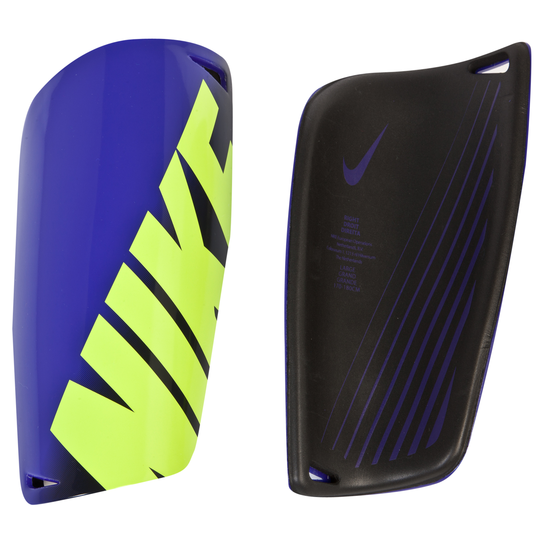 Nike Mercurial Lite Shinguards - Purple/Volt/Volt Purple