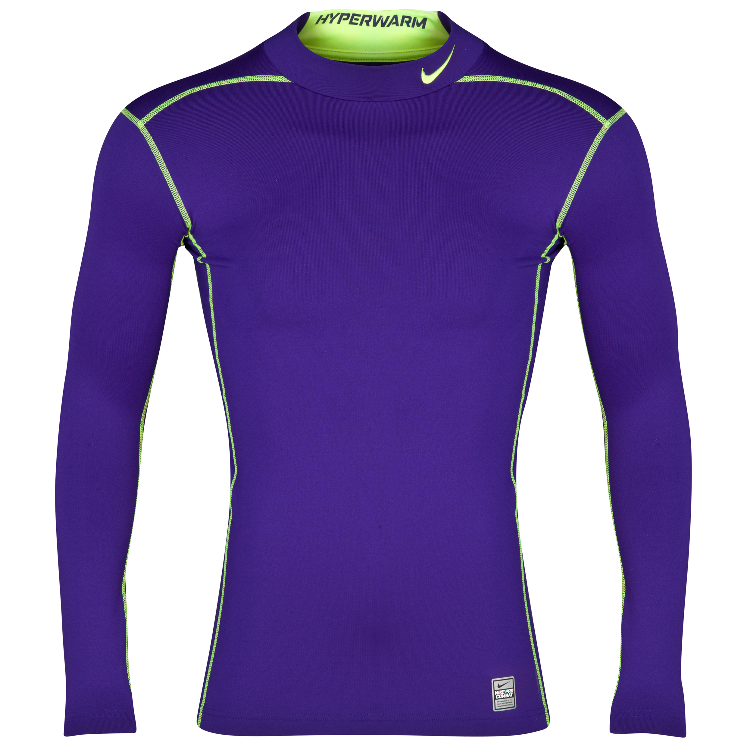 Nike Hyperwarm DriFit Comp Mock 2.0 - Electro Purple/Volt/Volt Purple