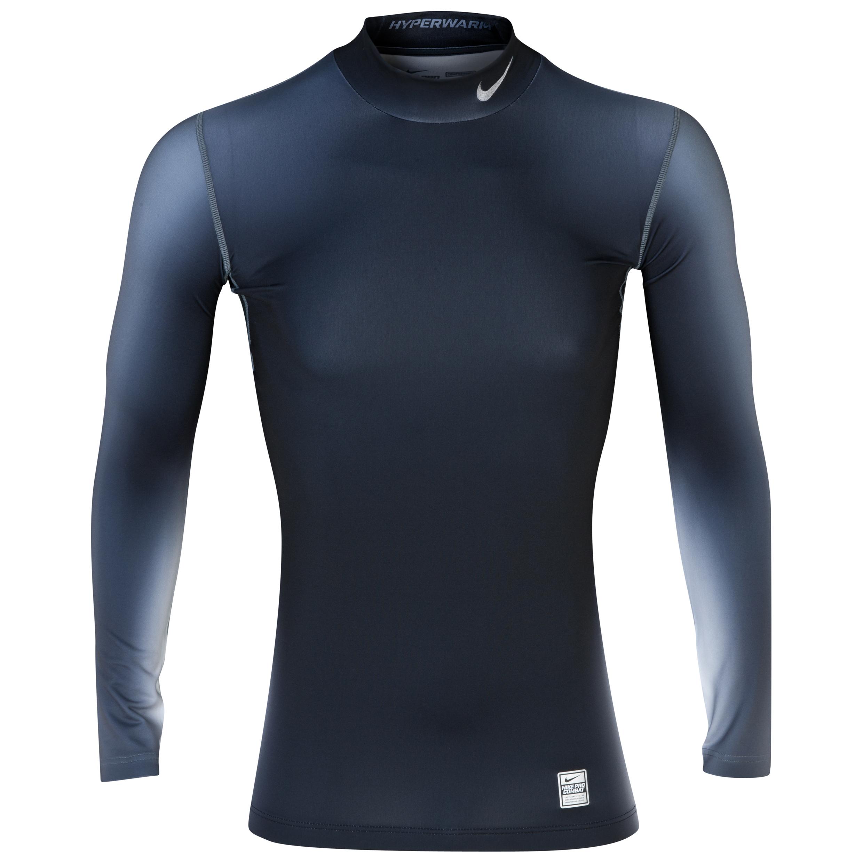 Nike Hyperwarm DriFit Max Comp Eclipse Mock - Black/Cool Grey Black