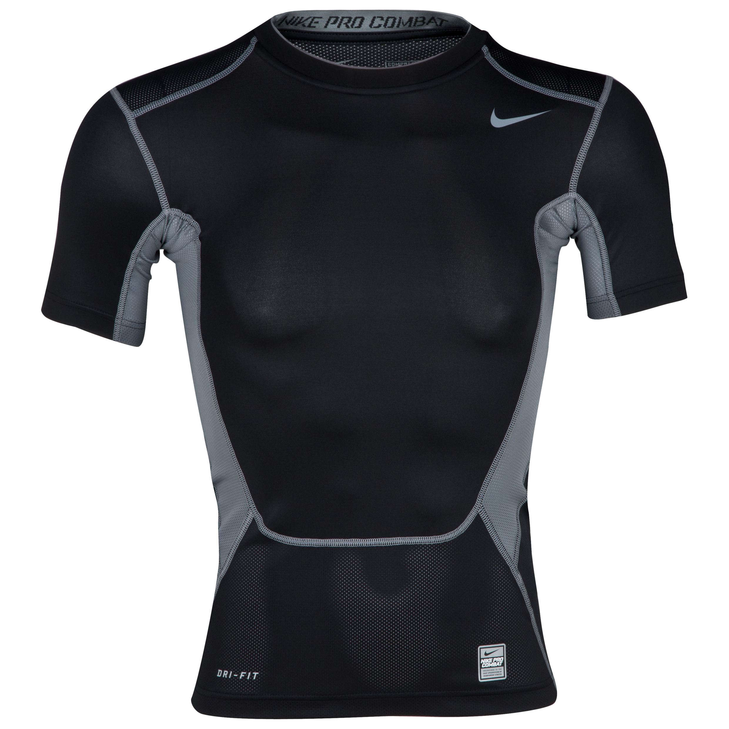 Nike Pro Combat Hypercool 1.2 Base Layer Top - Black/Cool Grey/Cool Grey Black