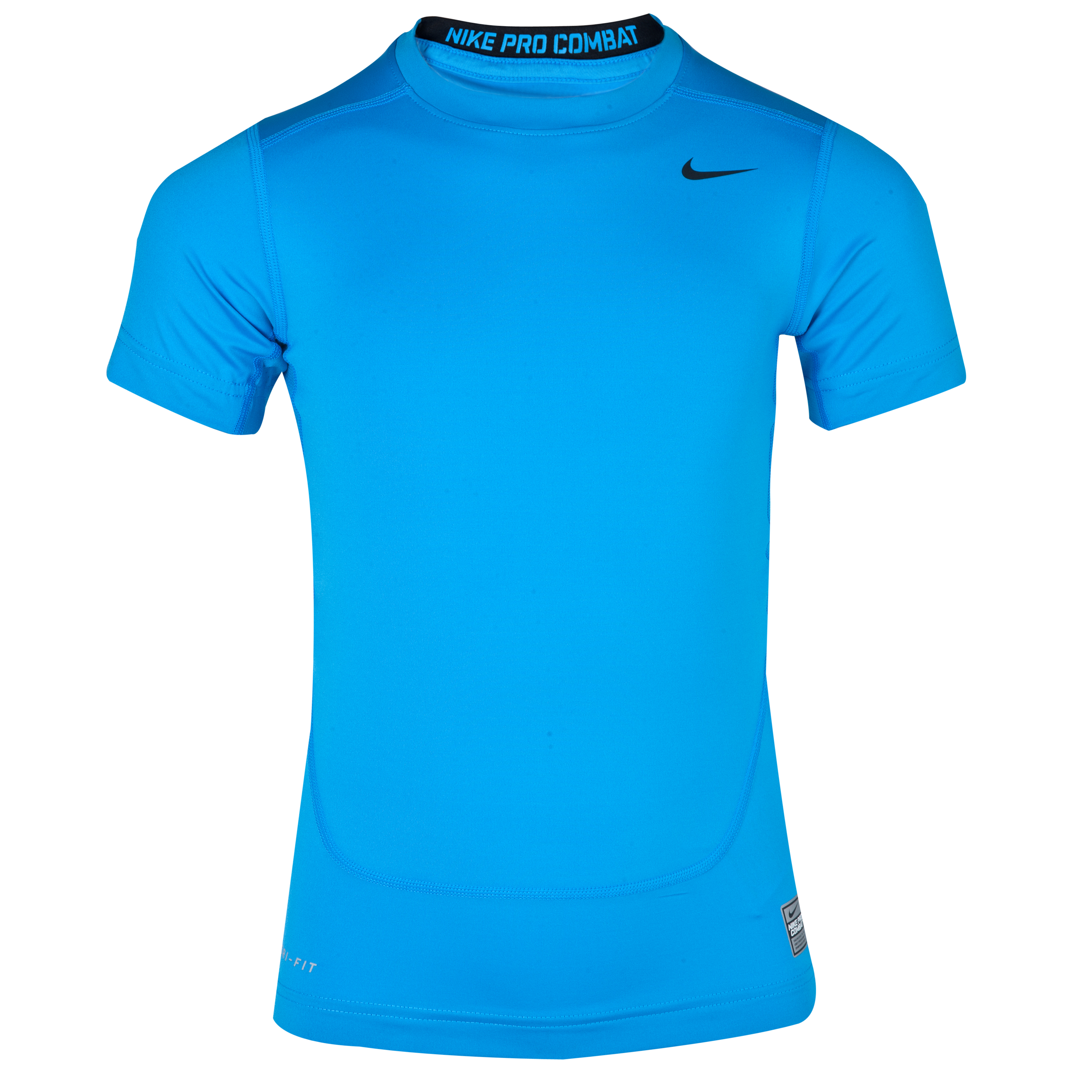 Nike Pro Combat Core Base Layer Top - Kids - Blue Hero/Black Blue