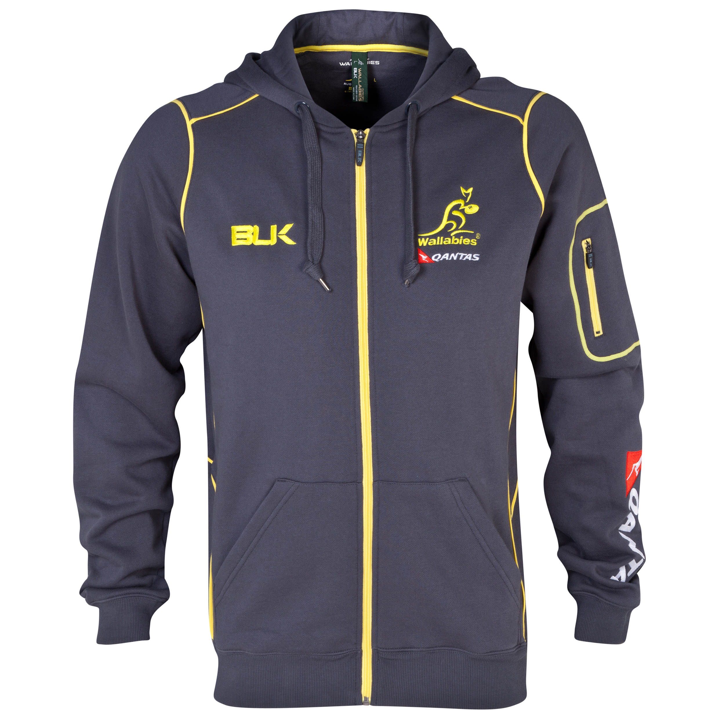 Australia Rugby Union Full Zip Hoody - Green/Gold