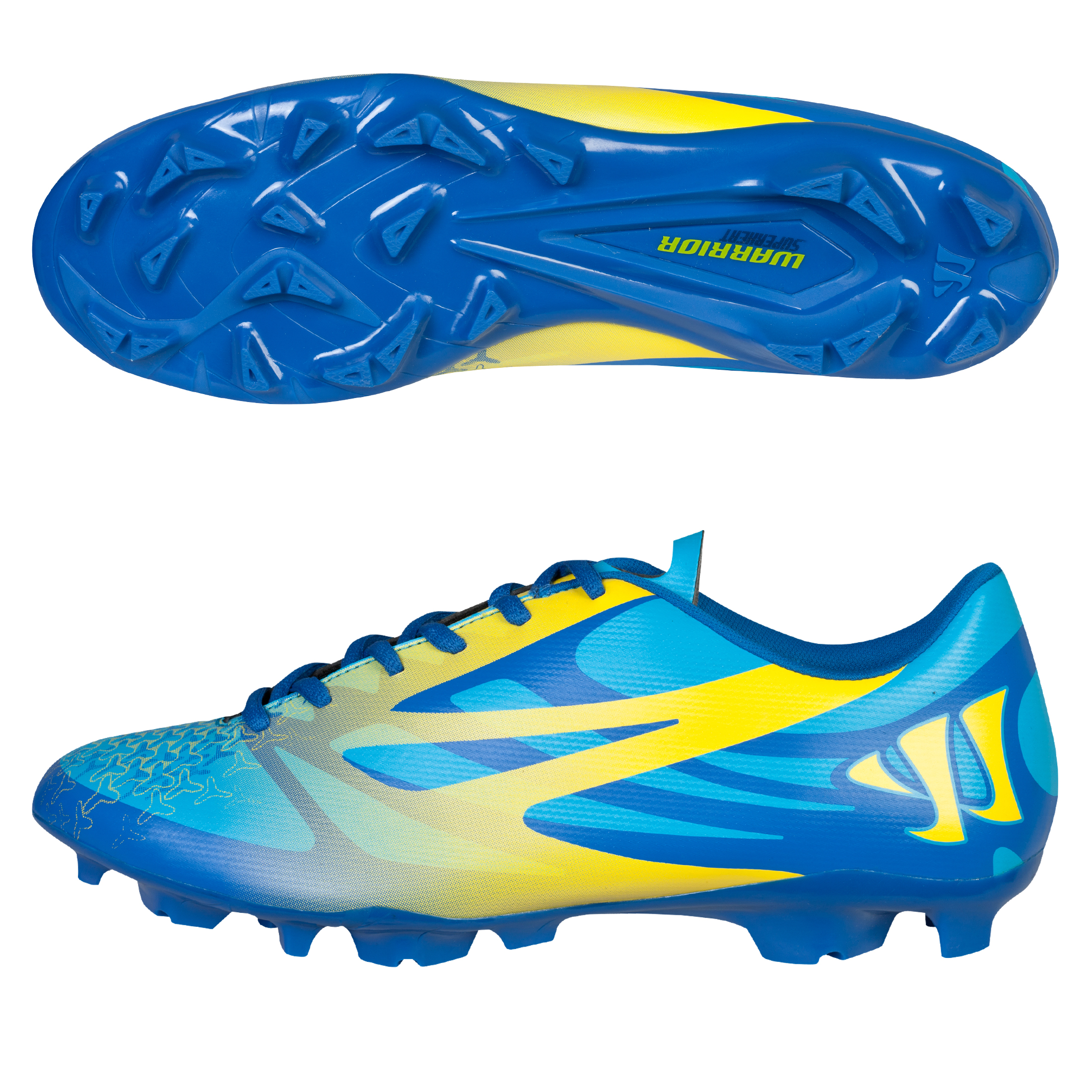 Warrior Superheat Combat Firm Ground Football Boots Blue