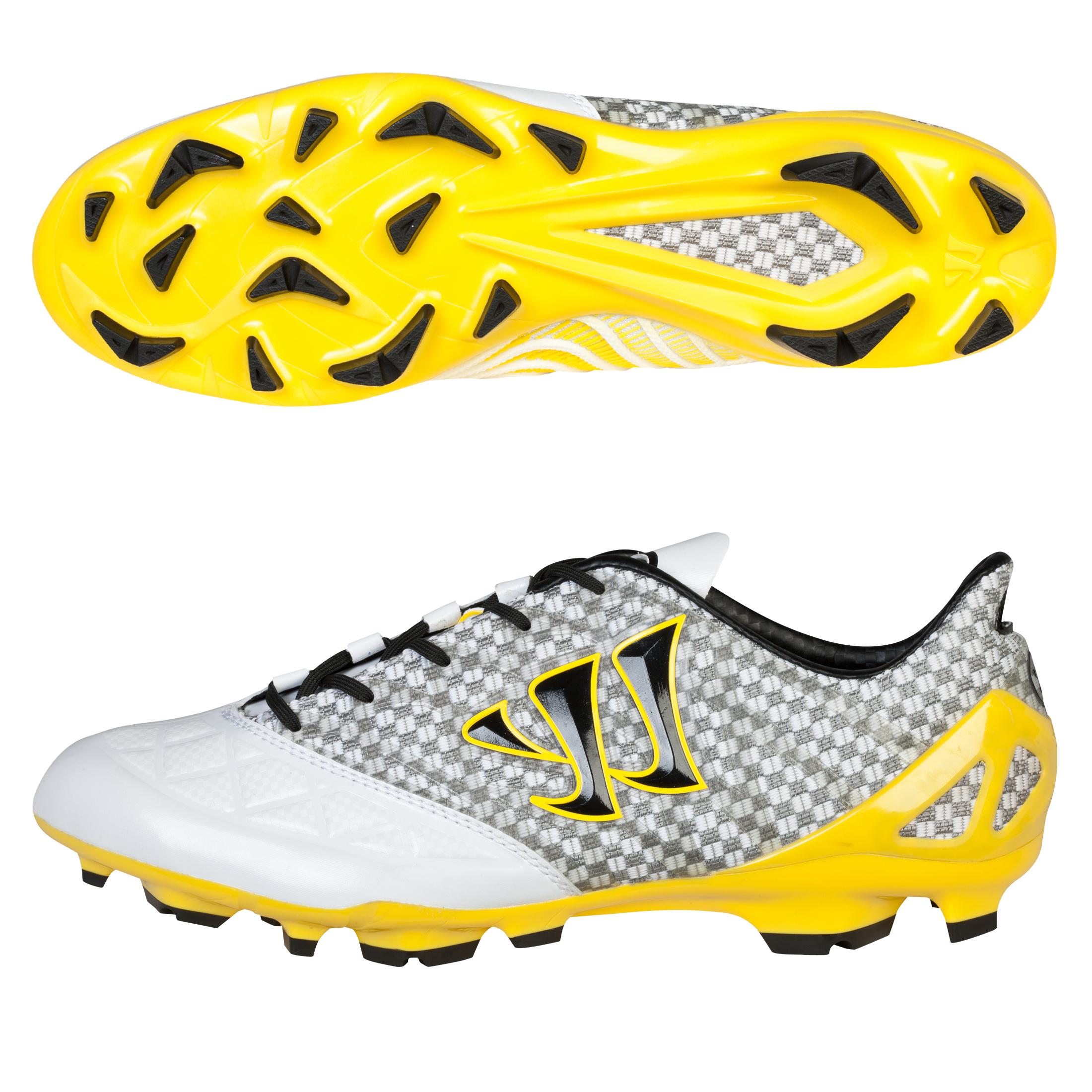 Warrior Gambler S-Lite Firm Ground Football Boots White