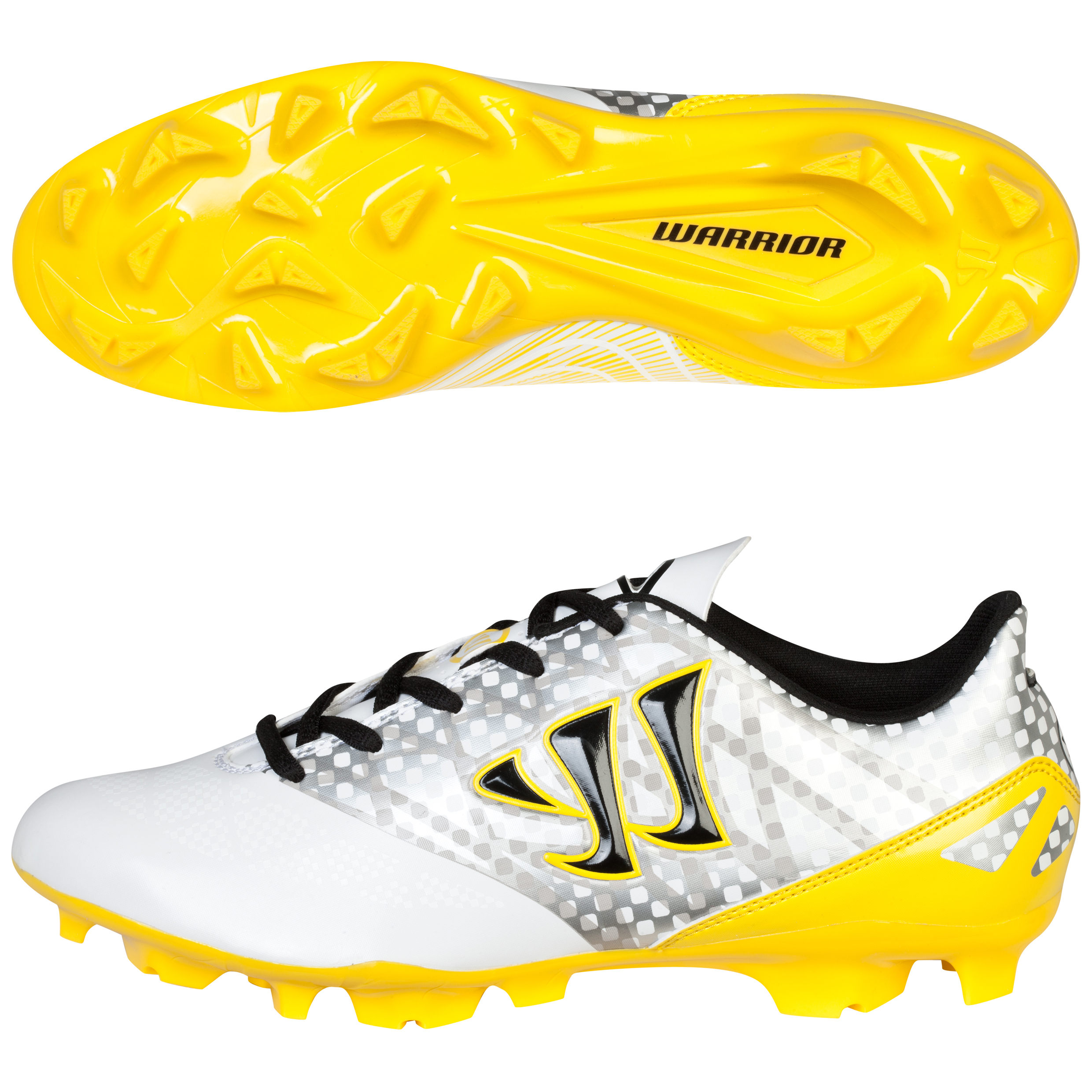 Warrior Gambler Combat Firm Ground Football Boots White