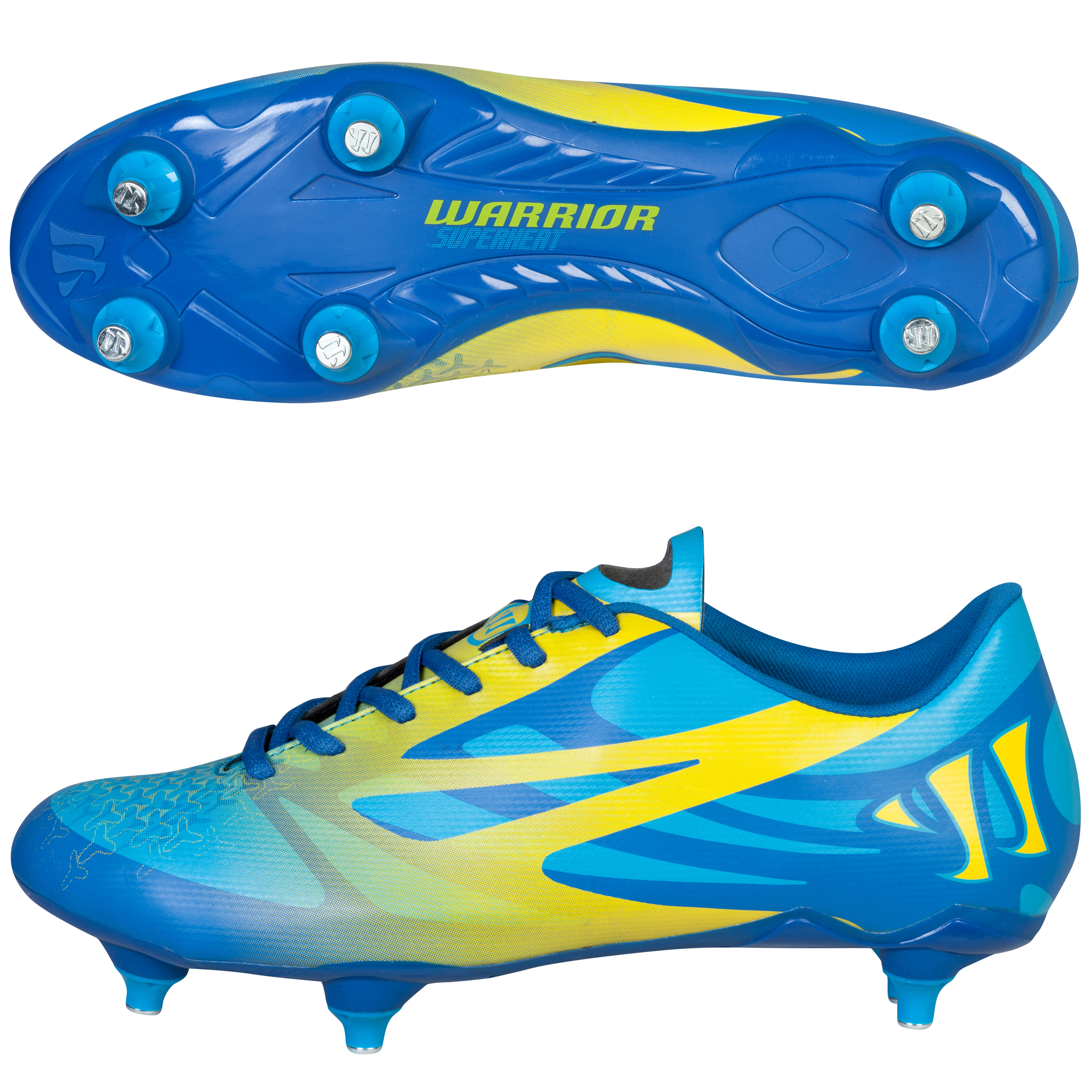 Warrior Superheat Combat Soft Ground Football Boots Blue