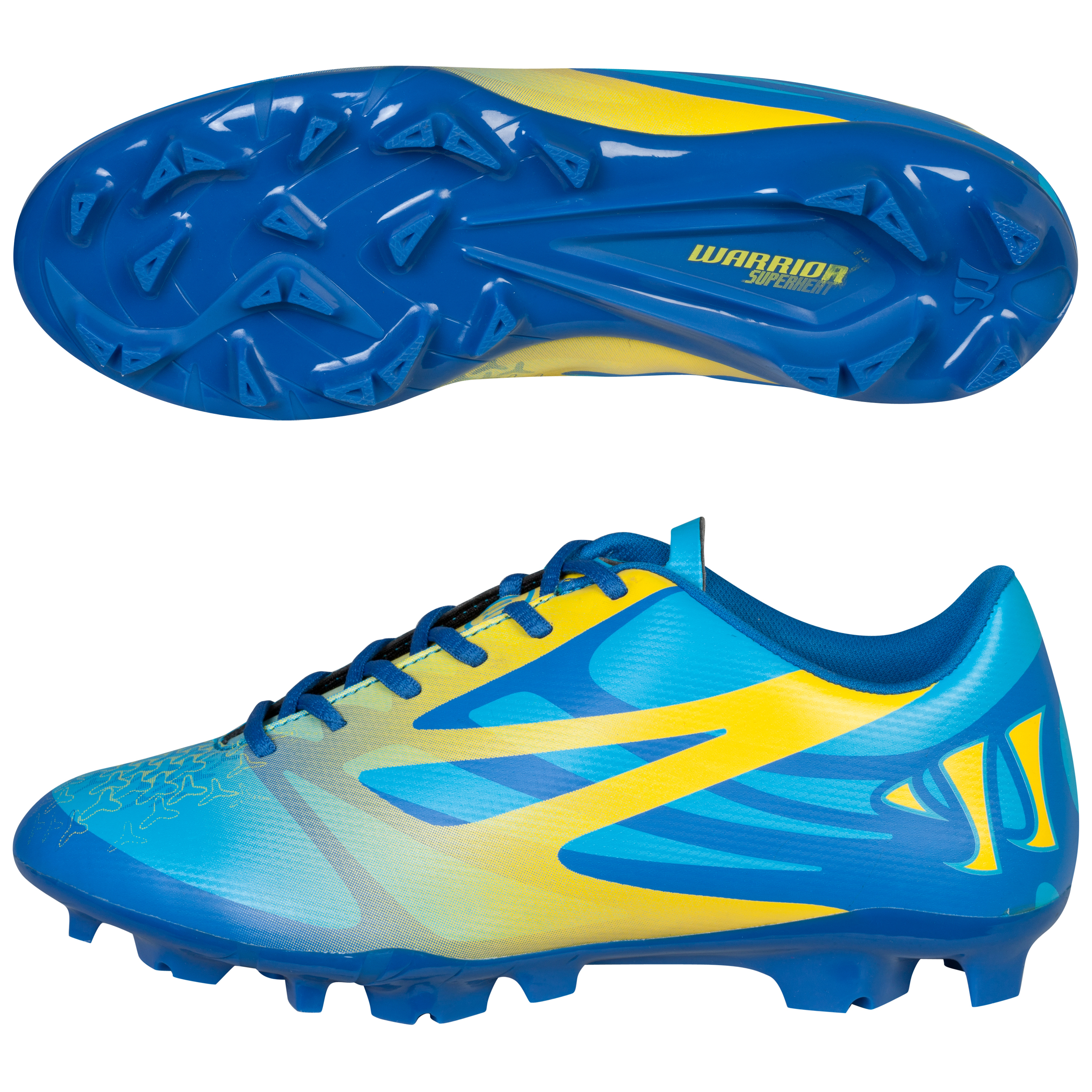 Warrior Superheat Combat Firm Ground Football Boots - Kids Blue