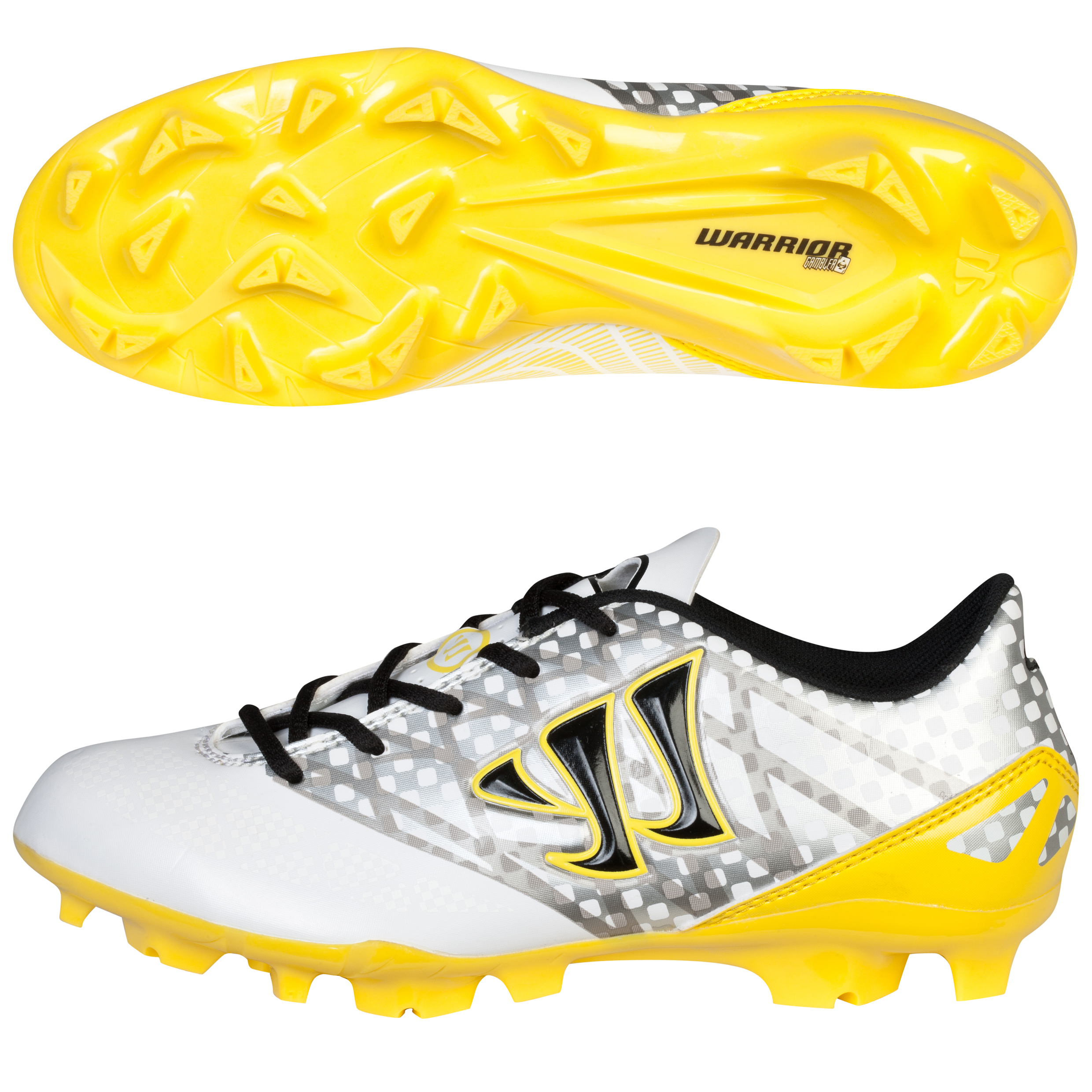 Warrior Gambler Combat Firm Ground Football Boots - Kids White