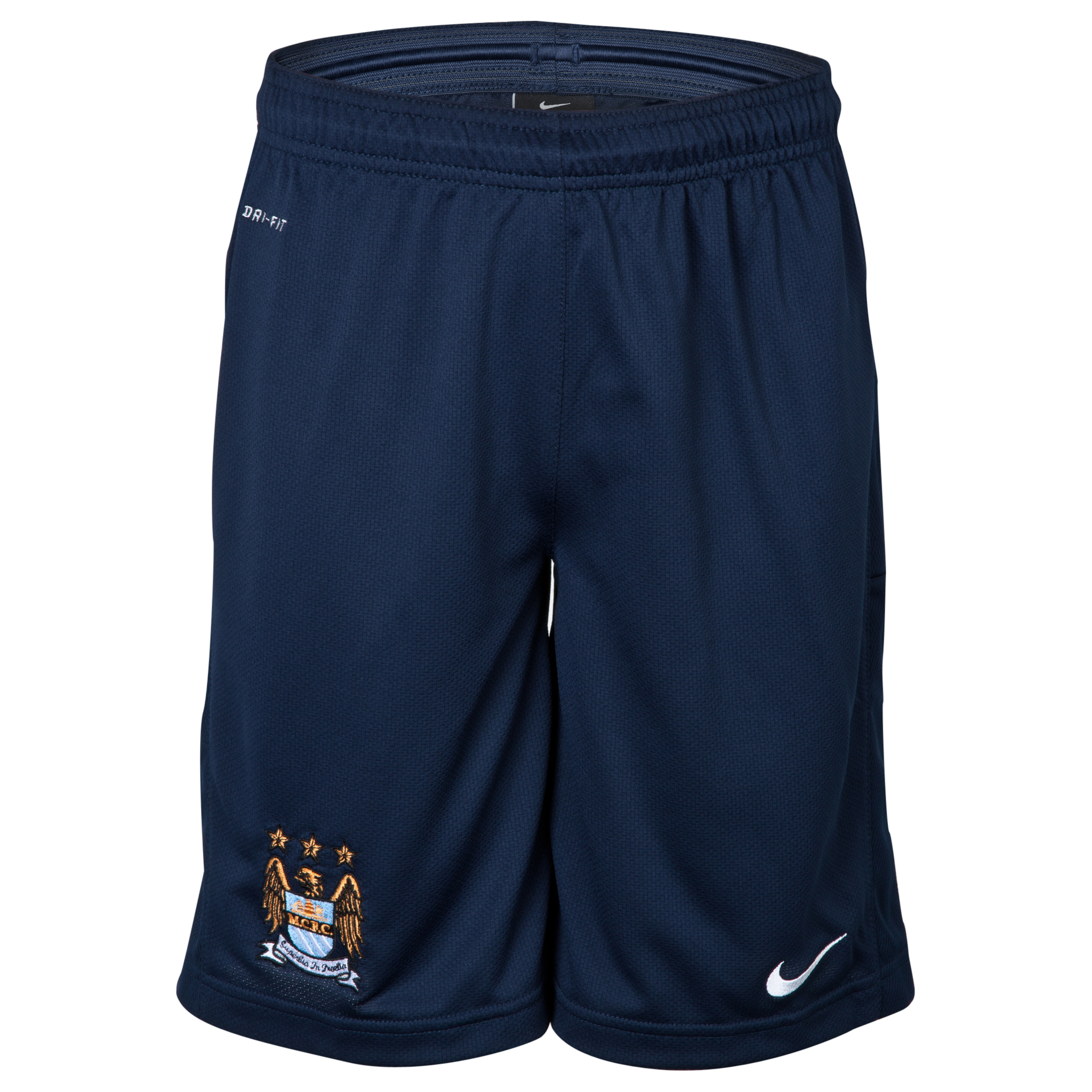 Manchester City Longer Knit Short - Junior - Obsidian Blue
