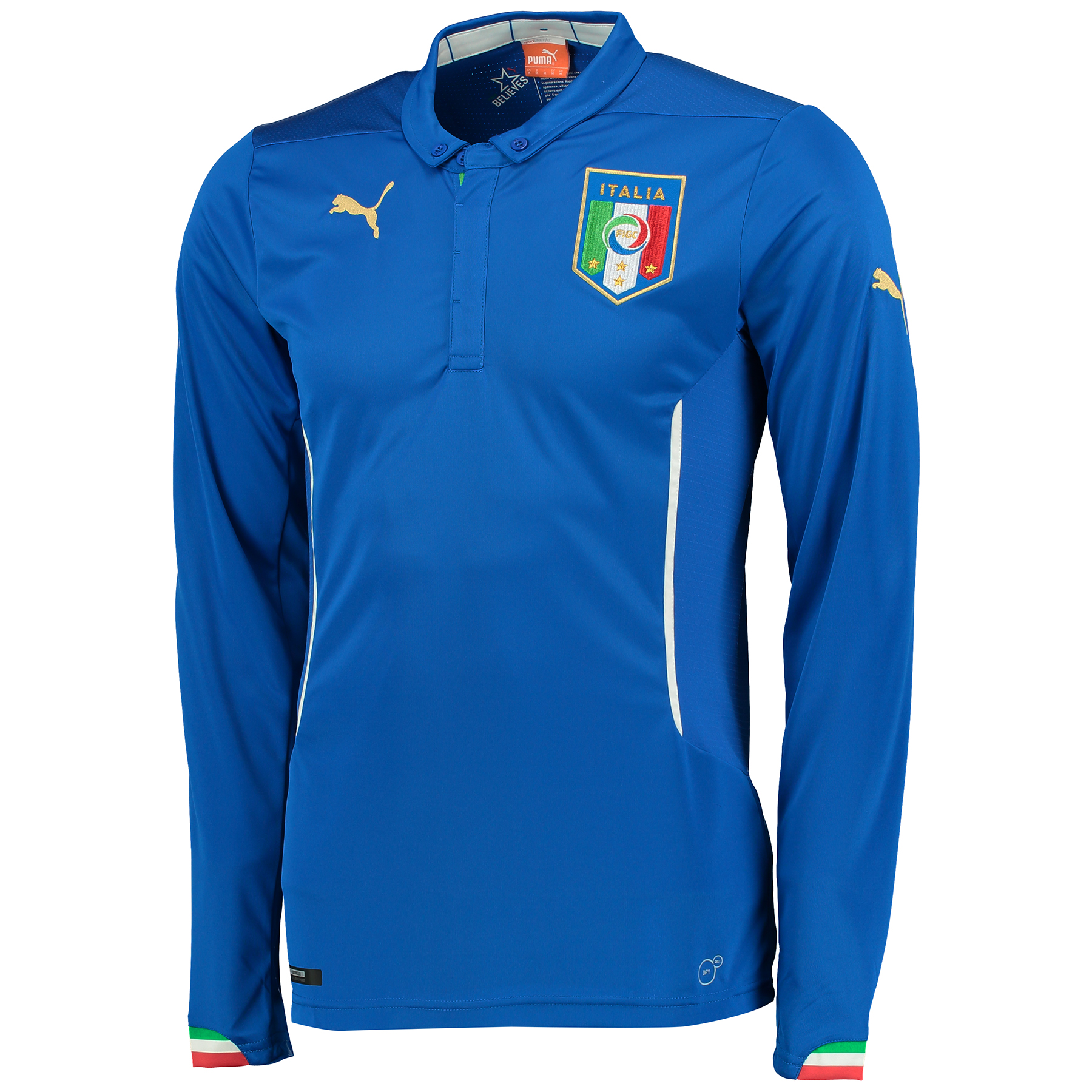 Italy Home Shirt 2014/15 - Long Sleeved