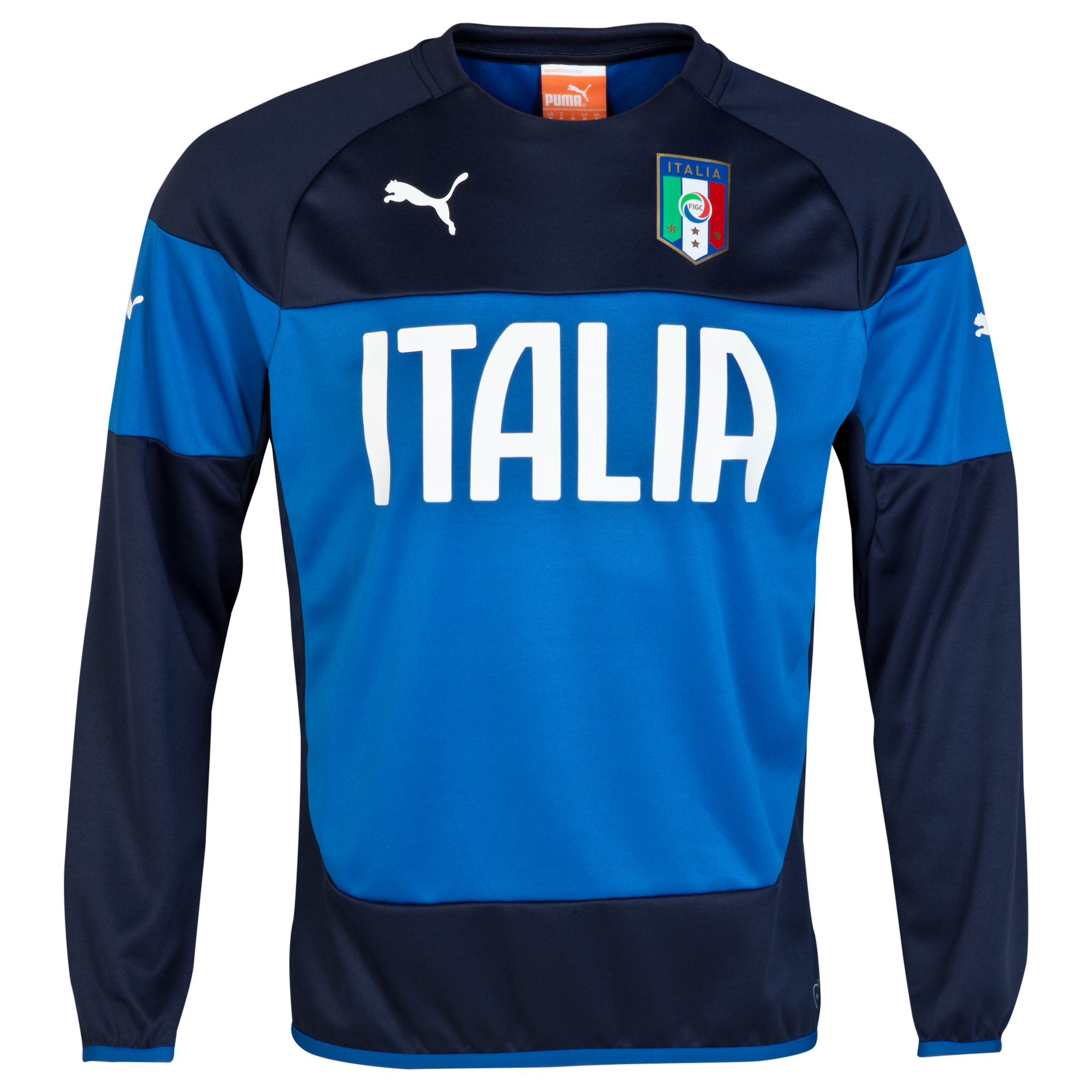 Italy Training Sweatshirt -Blue Blue