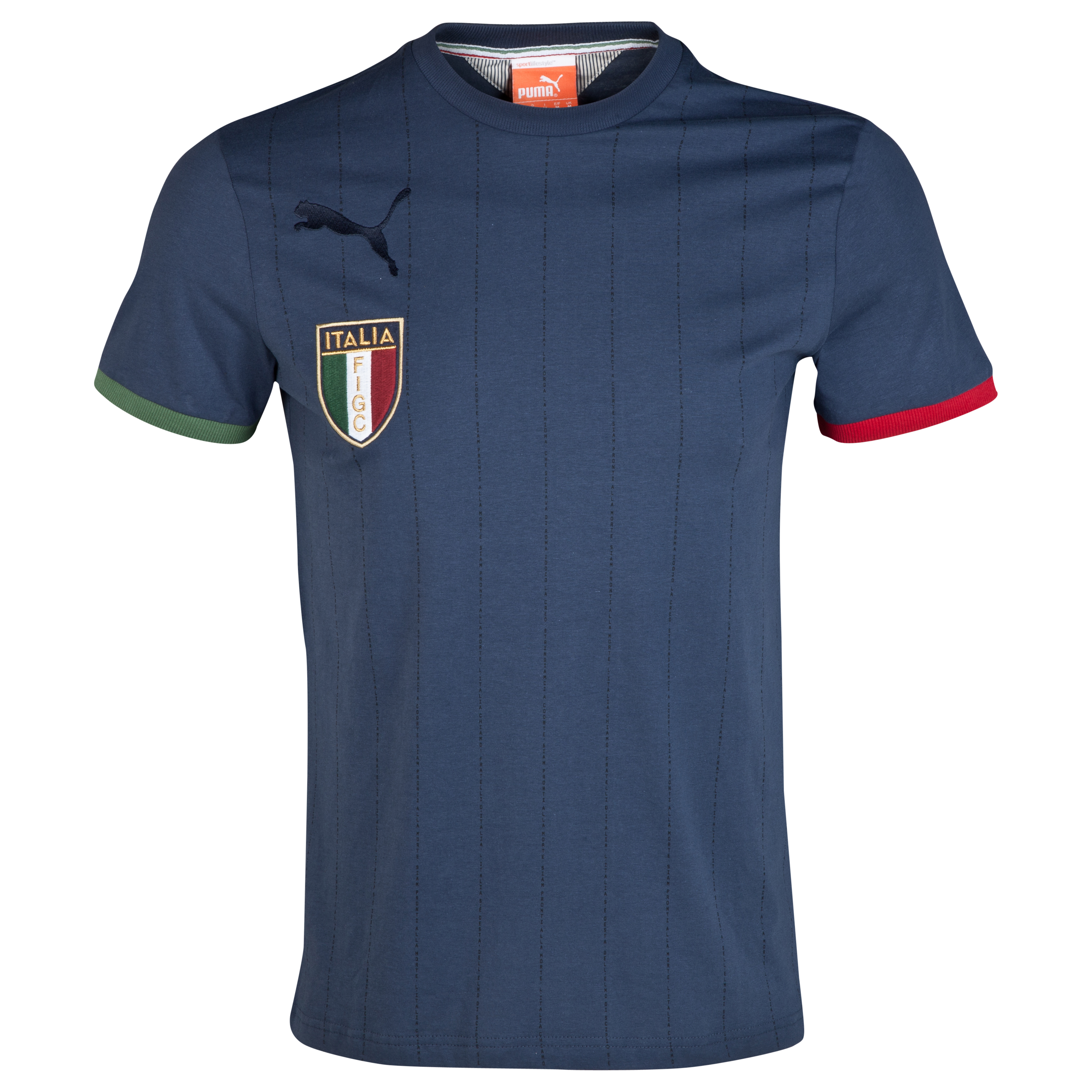 Italy T7 Badge T-Shirt - Indigo