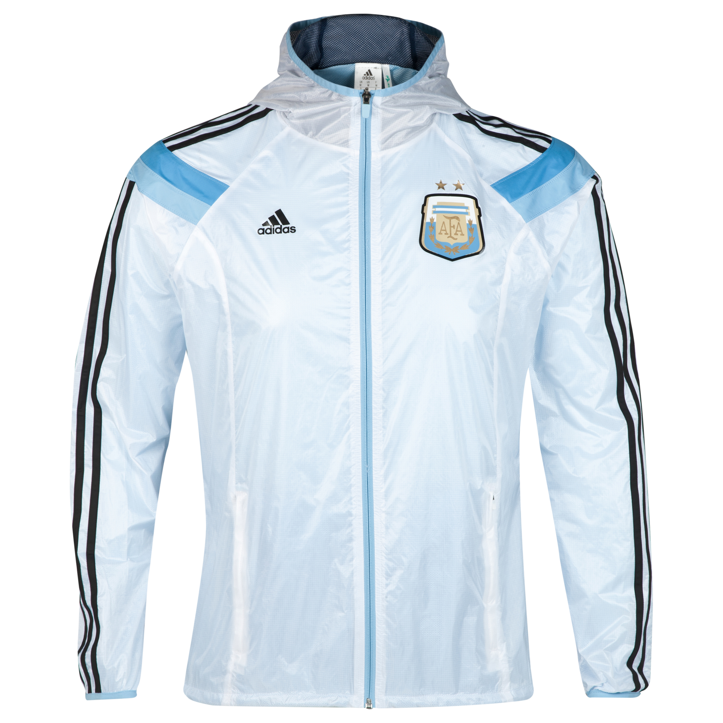 Argentina Anthem Jacket - White/Blue/Black White