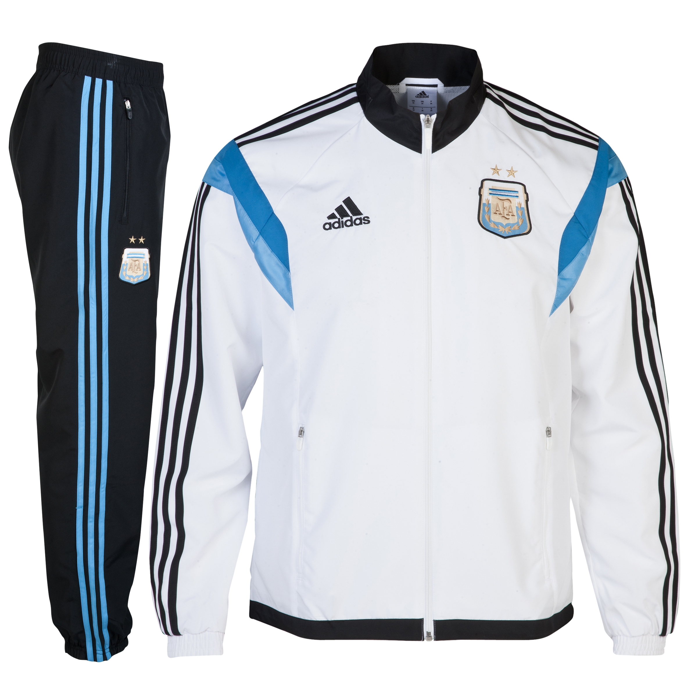 Argentina Presentation Suit - White/Black White