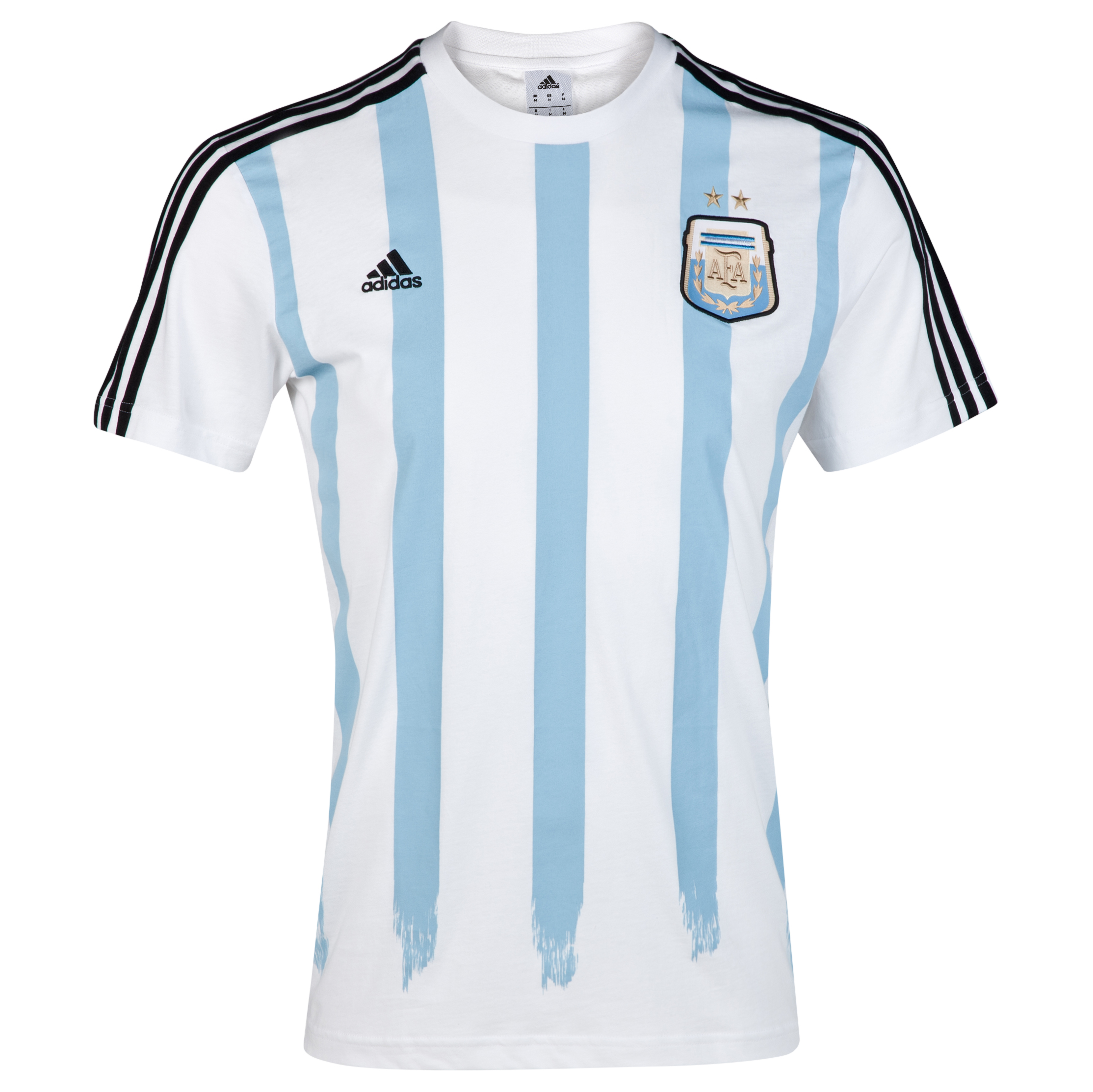 Argentina Messi T-shirt - White/Black