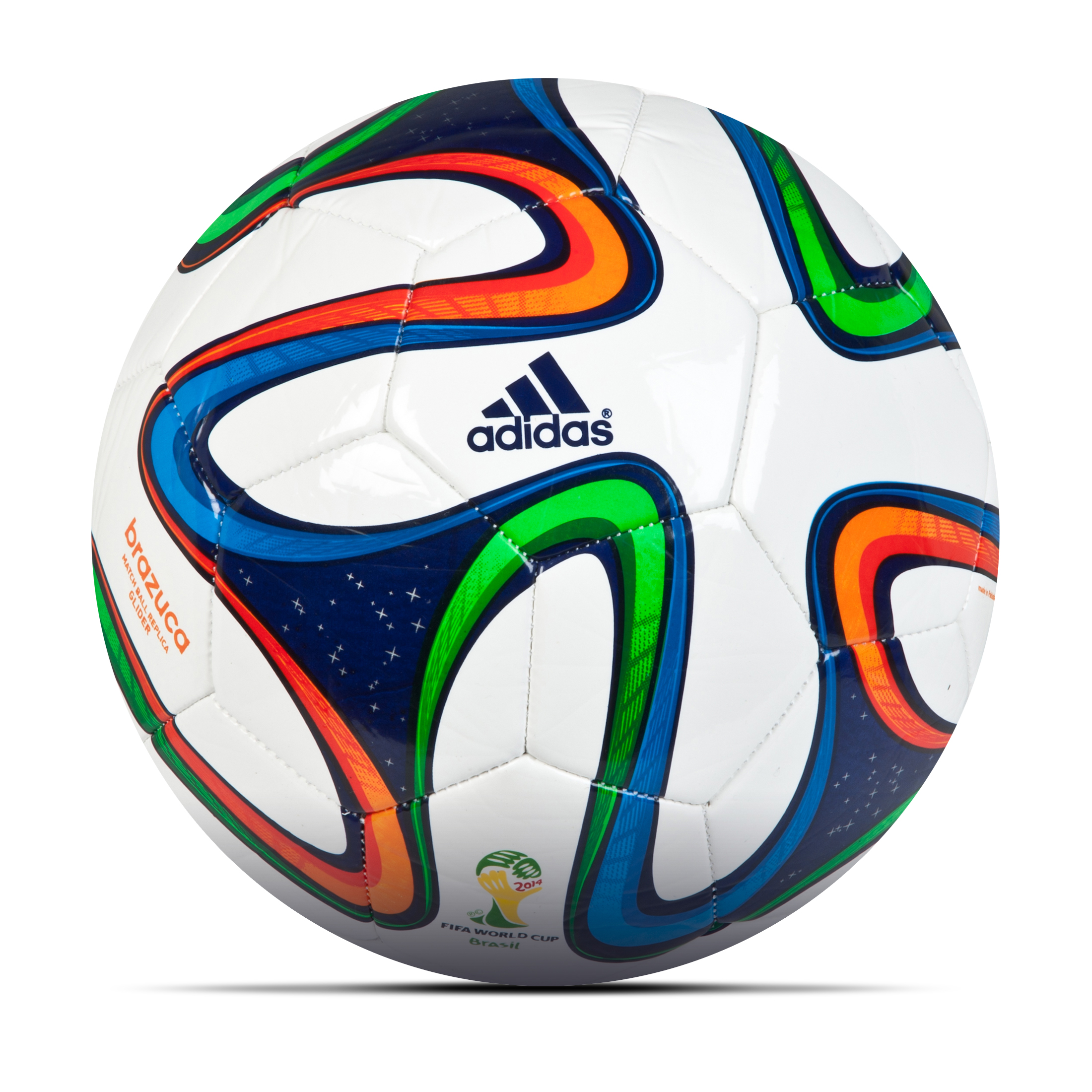 Adidas Brazuca Glider Football - White/Night Blue/Multi White