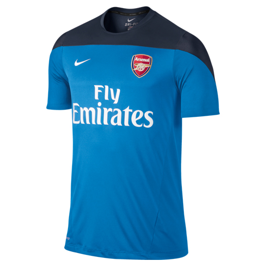 Arsenal Squad Short Sleeve Training Top Blue