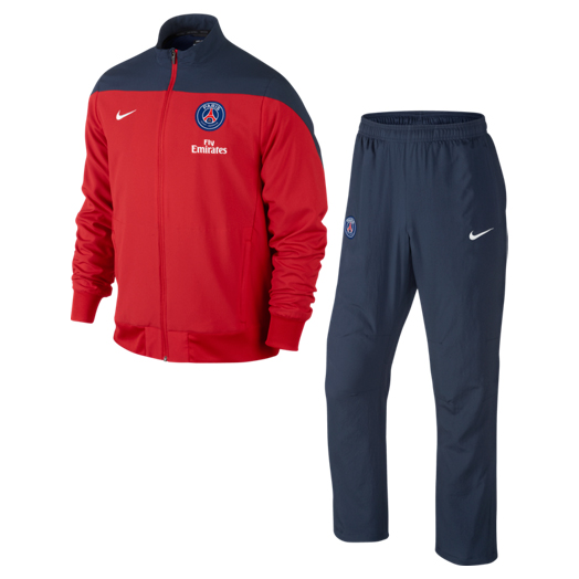 Paris Saint-Germain Squad Sideline Woven Warm Up Tracksuit Red