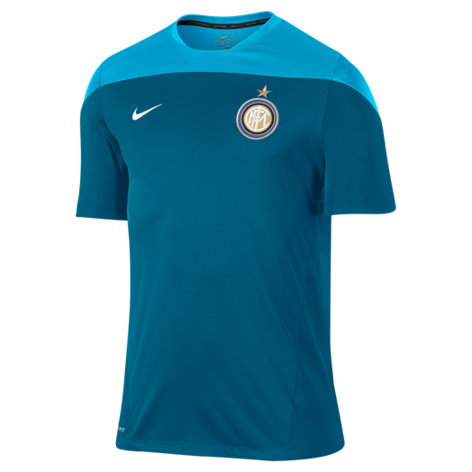 Inter Milan Squad Short Sleeve Training Top Green
