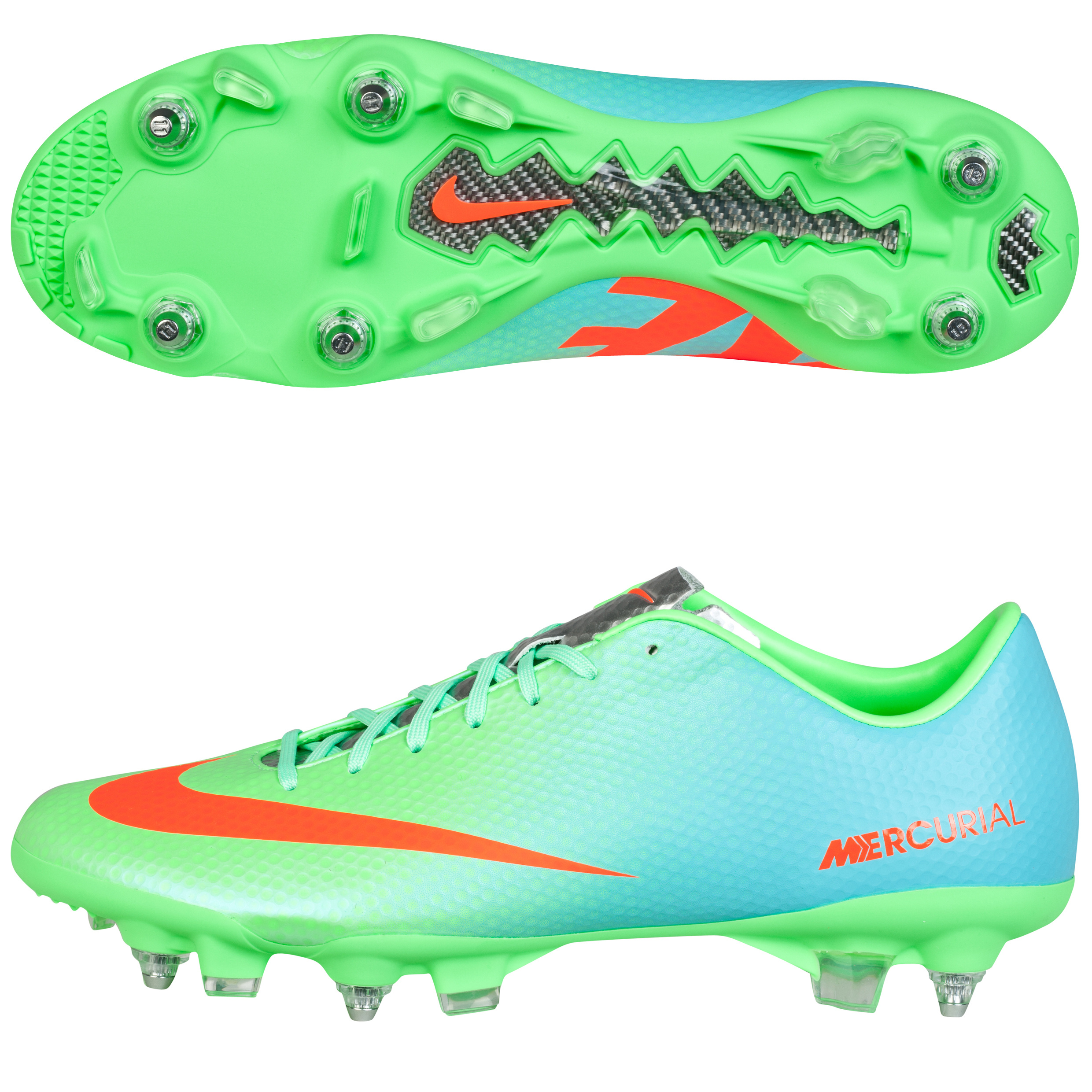 Nike Mercurial Veloce Soft Ground Football Boots Green