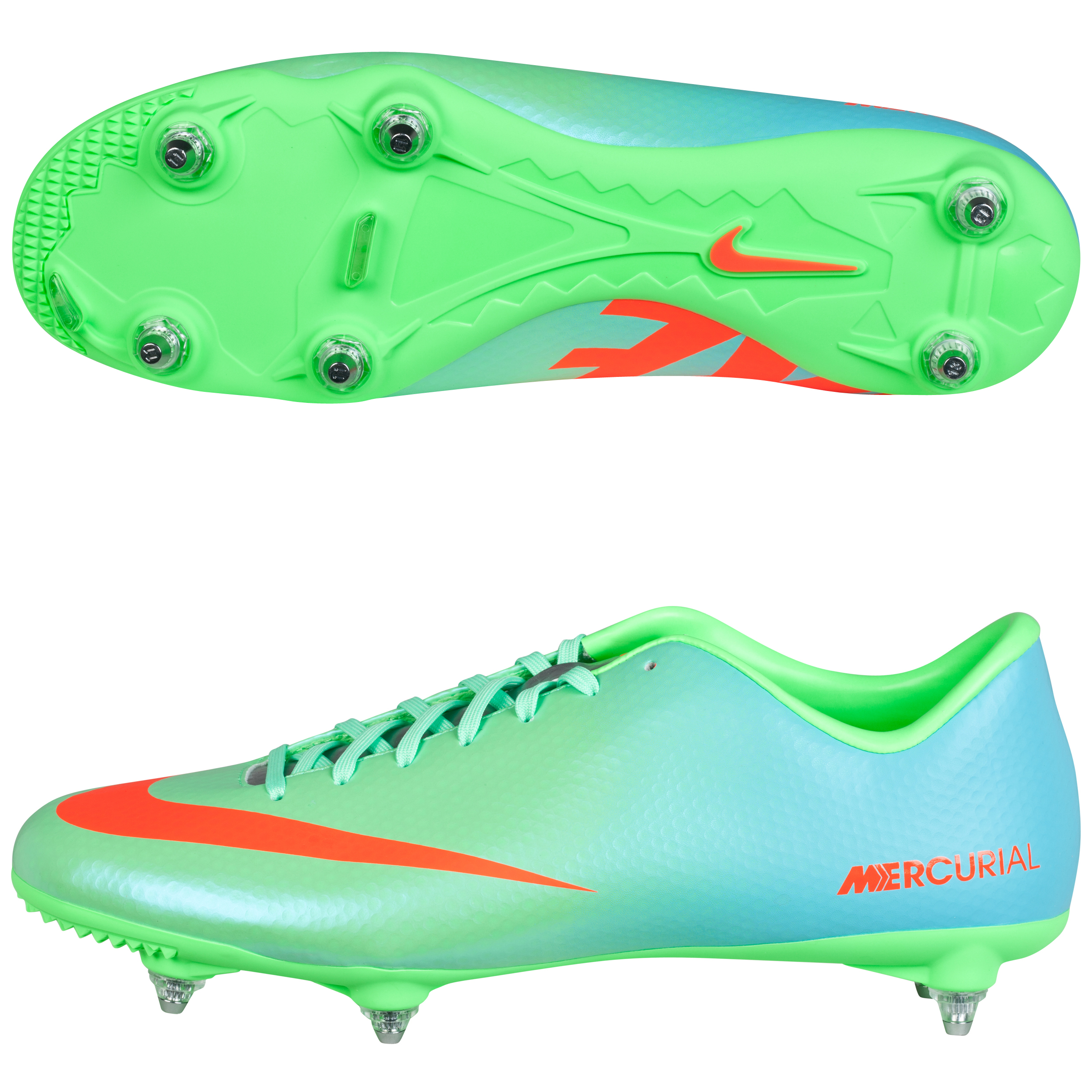 Nike Mercurial Victory IV Soft Ground Football Boots Green