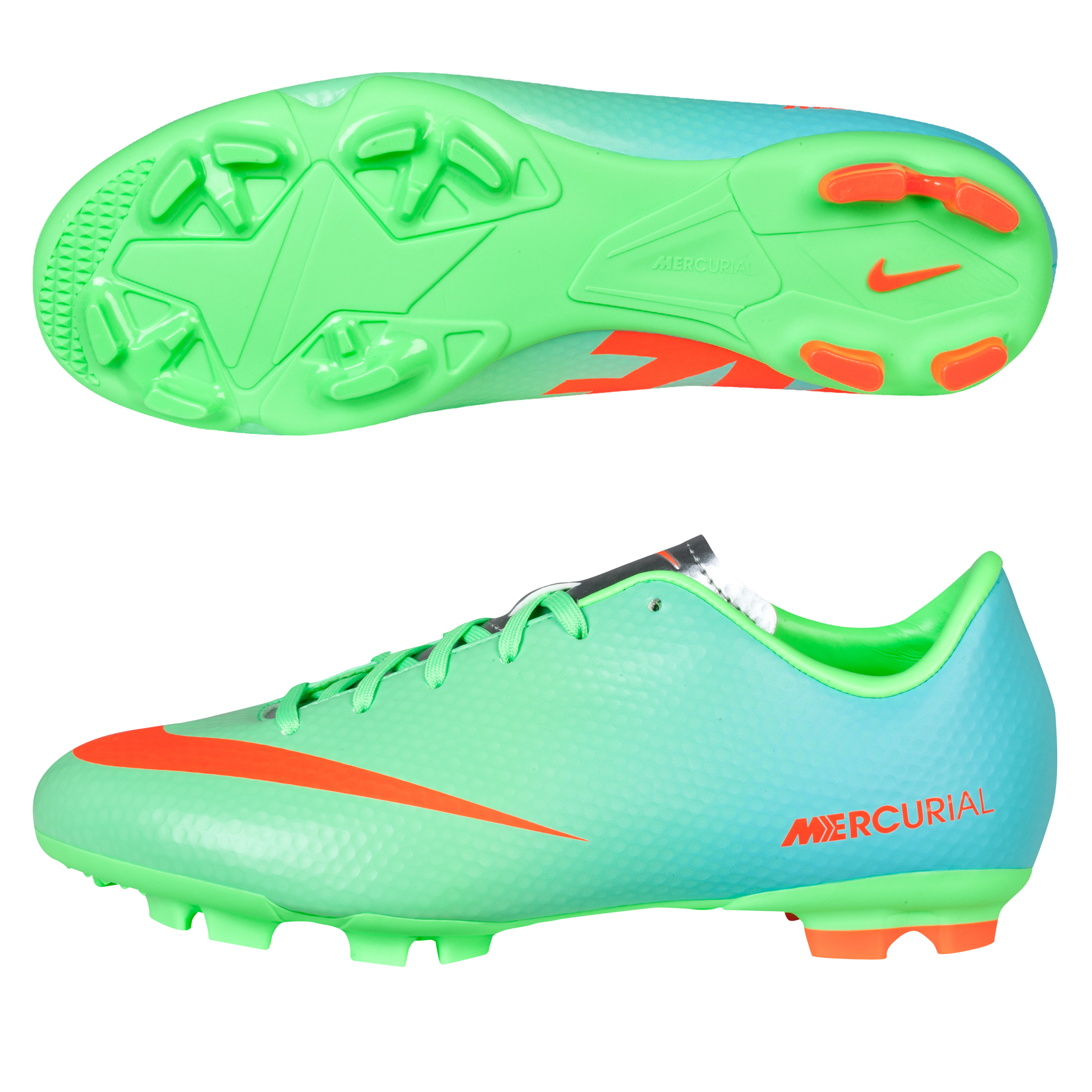 Nike Mercurial Victory IV Firm Ground Football Boots - Kids Green