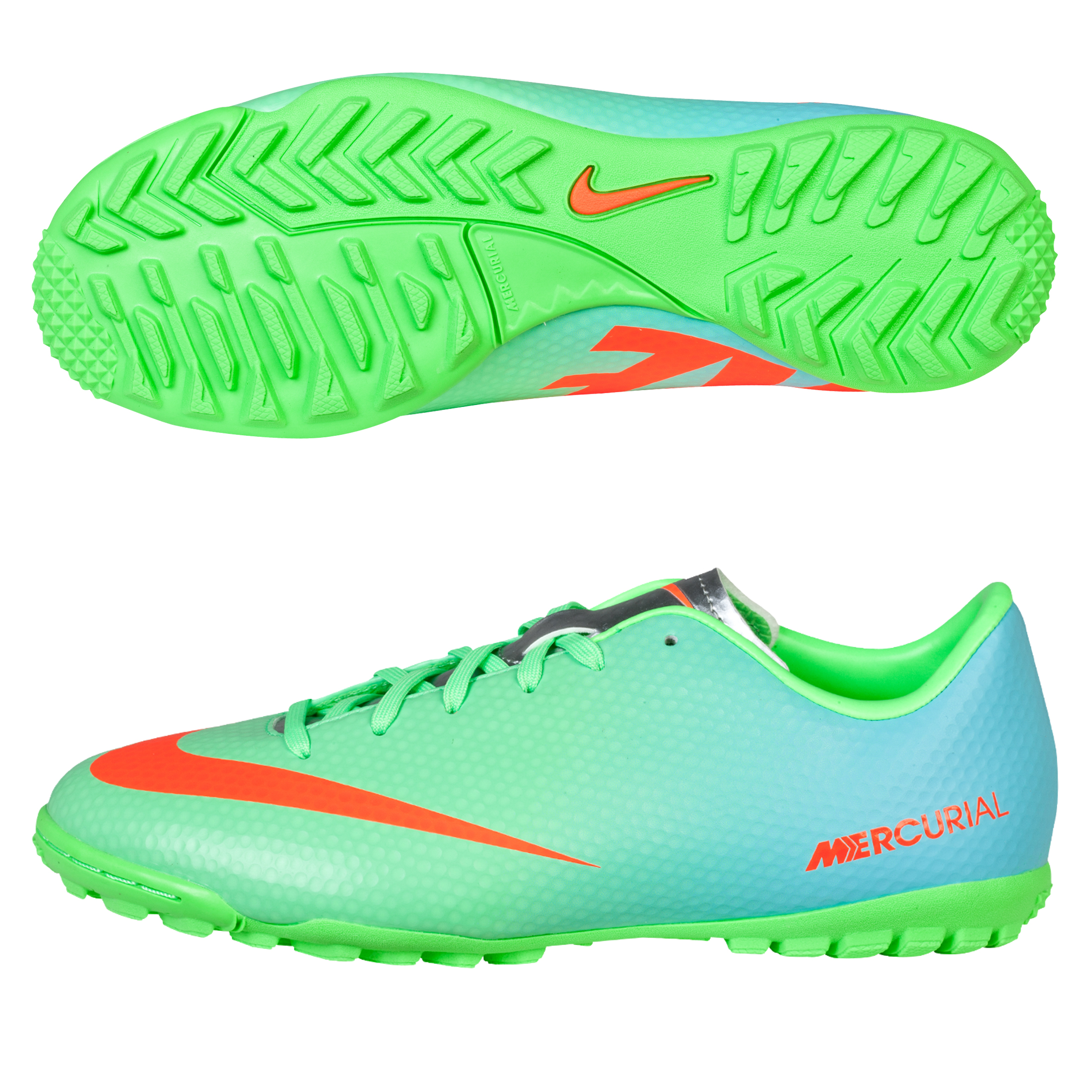 Nike Mercurial Victory IV Astroturf Trainers - Kids Green