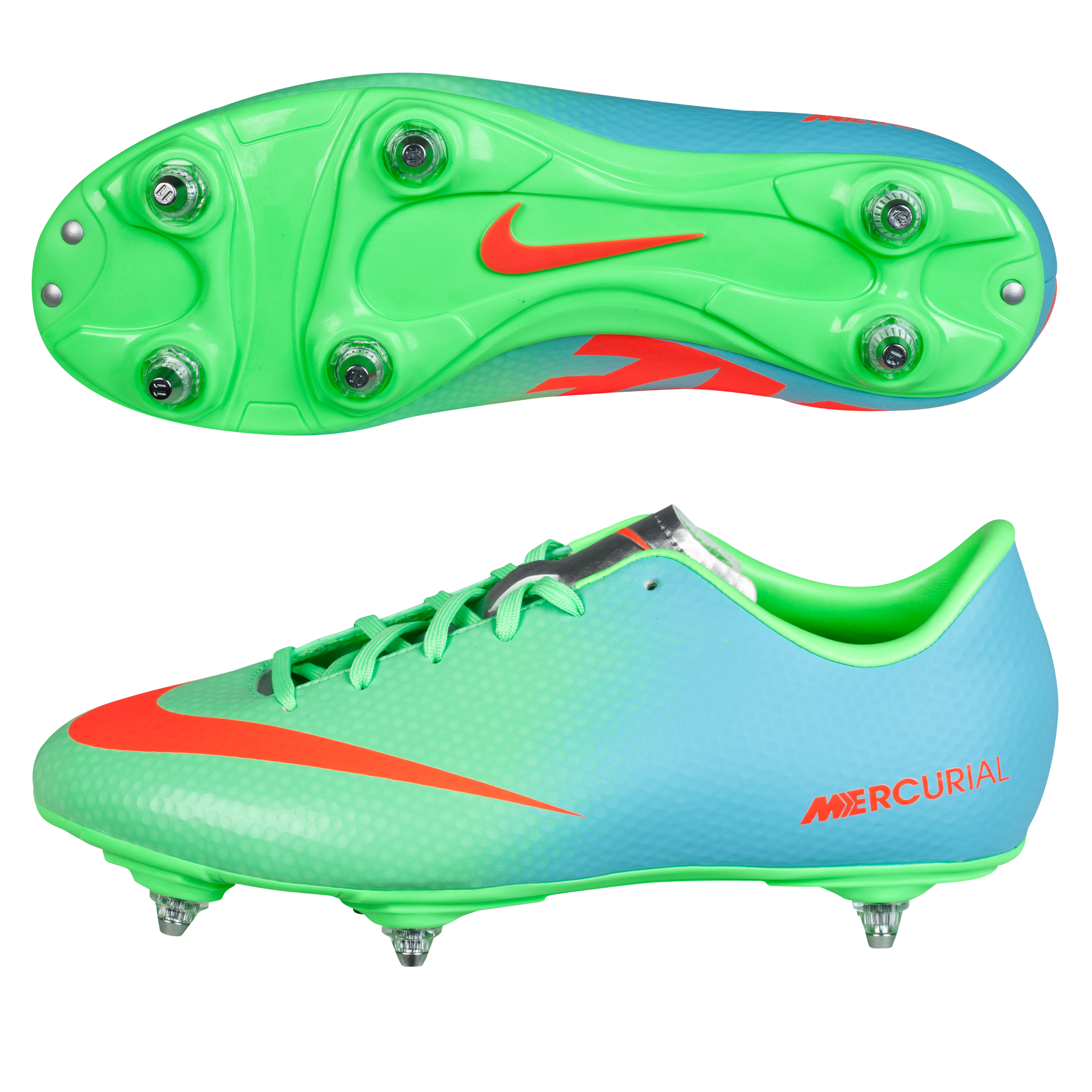 Nike Mercurial Victory IV Soft Ground Football Boots - Kids Green