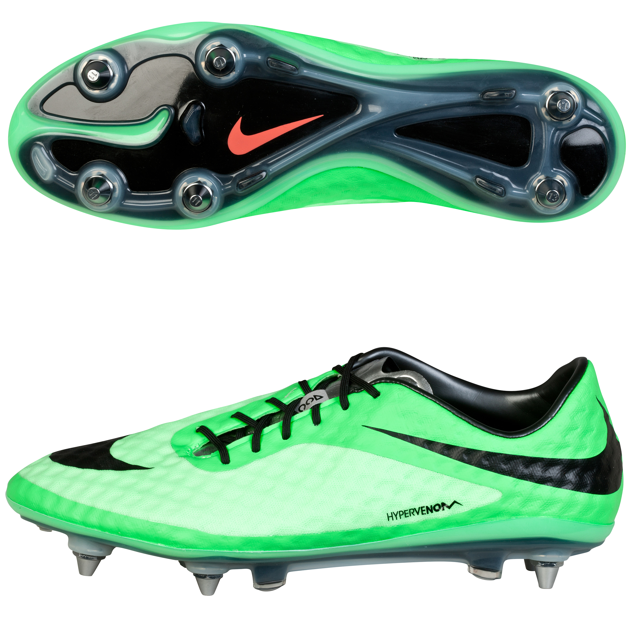 Nike Hypervenom Phantom Soft Ground Pro Football Boots Green