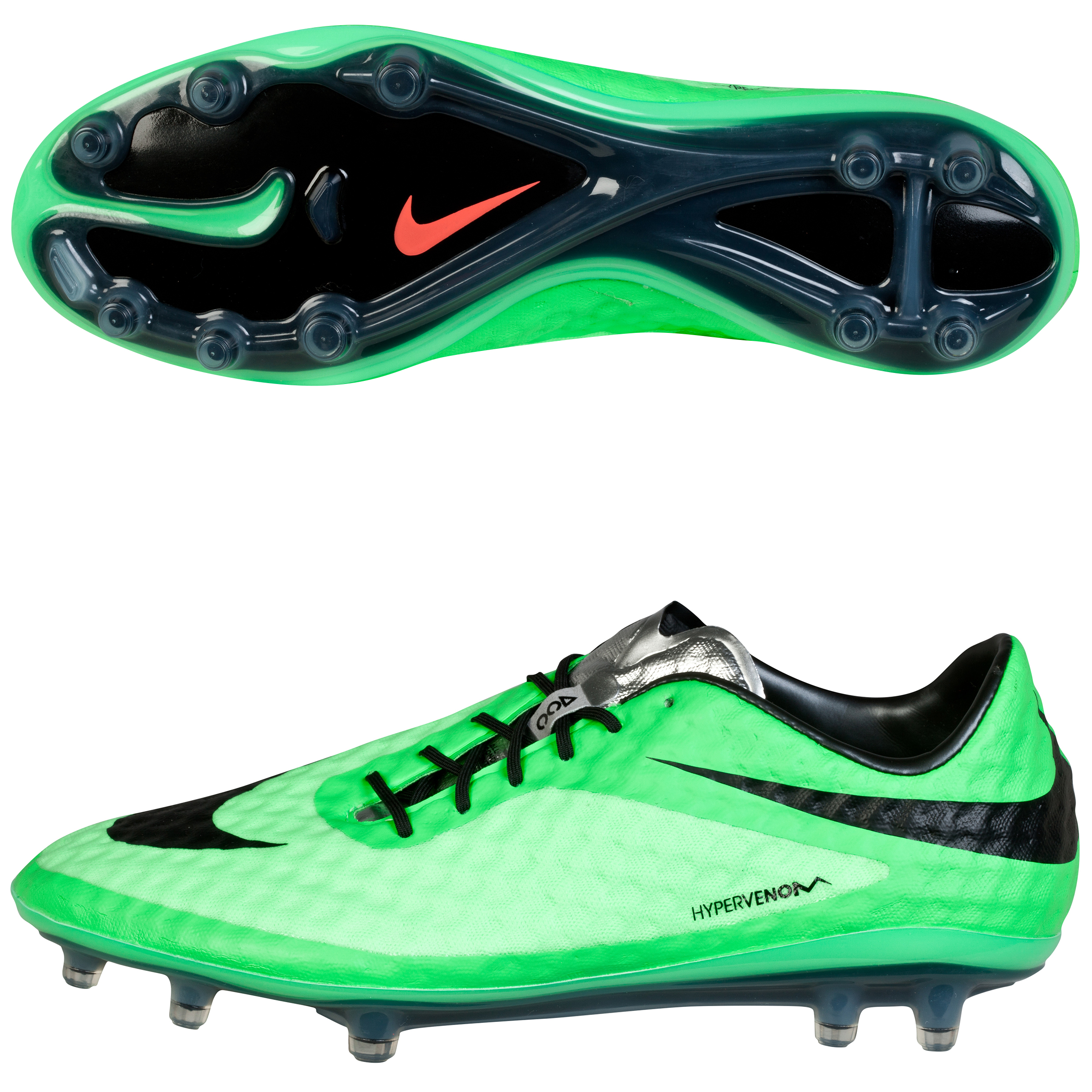 Nike Hypervenom Phantom Firm Ground Football Boots Green
