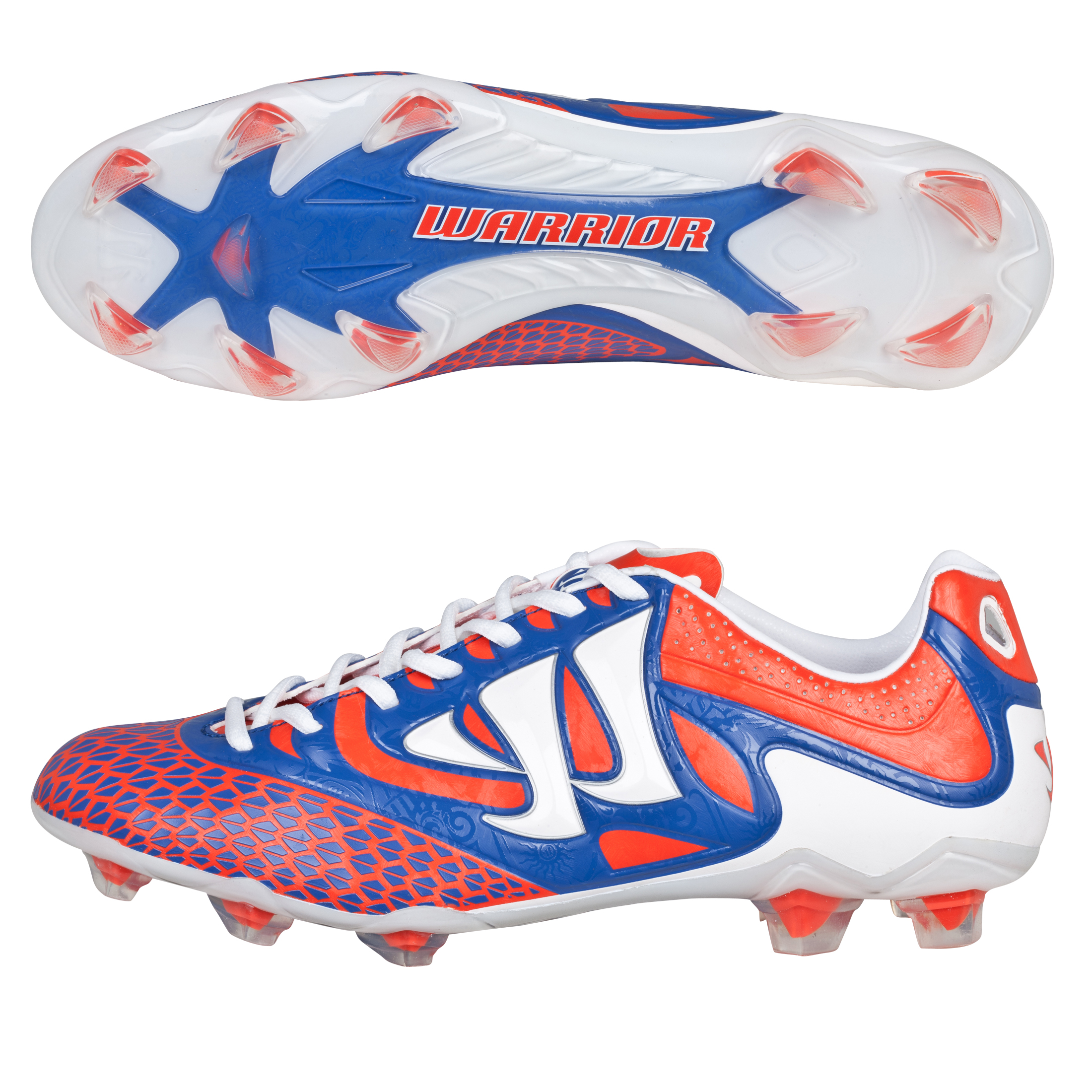 Warrior Skreamer Combat FG Footbal Boots - Spicey orange/baja blue/white Orange