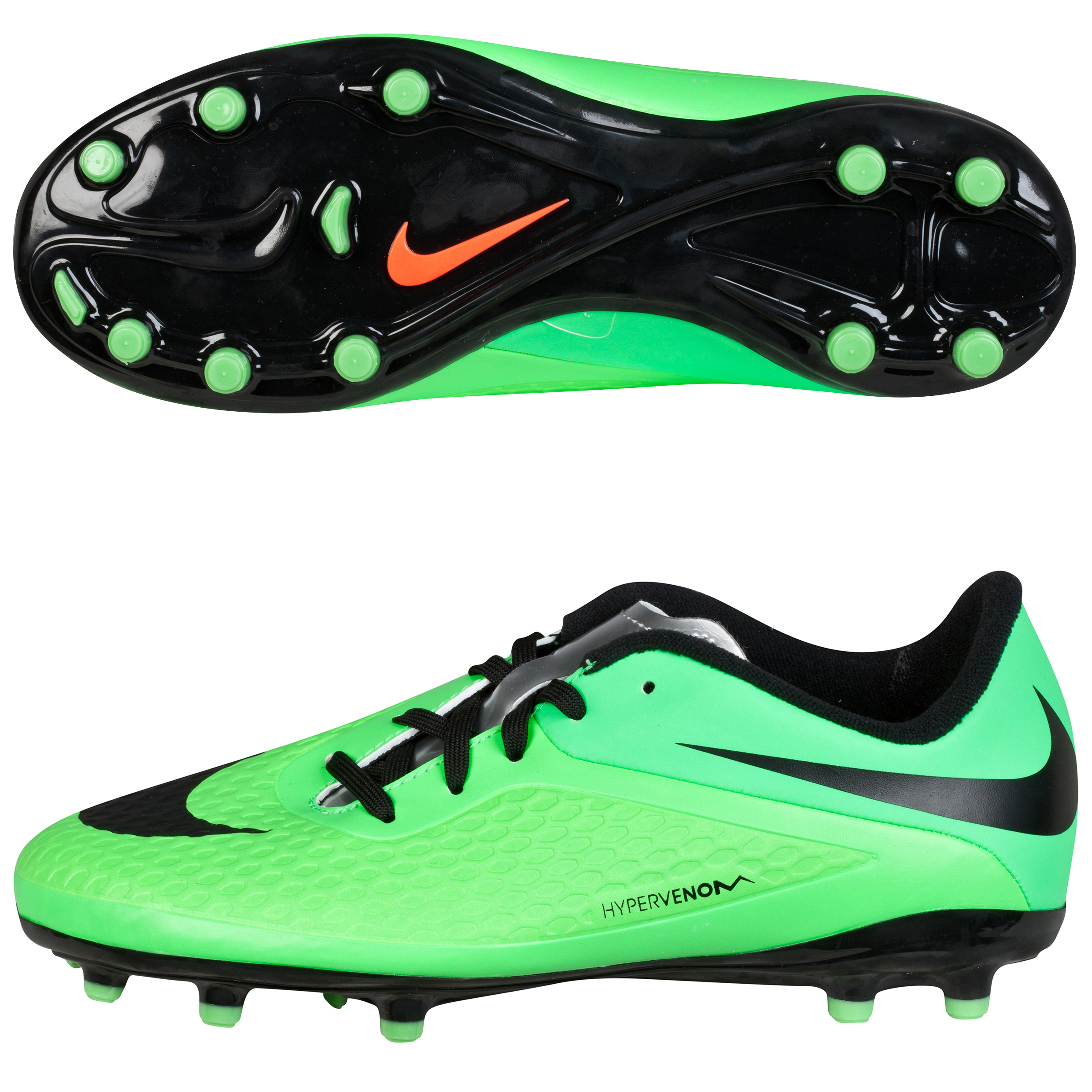 Nike Hypervenom Phelon Firm Ground Football Boots - Kids Green