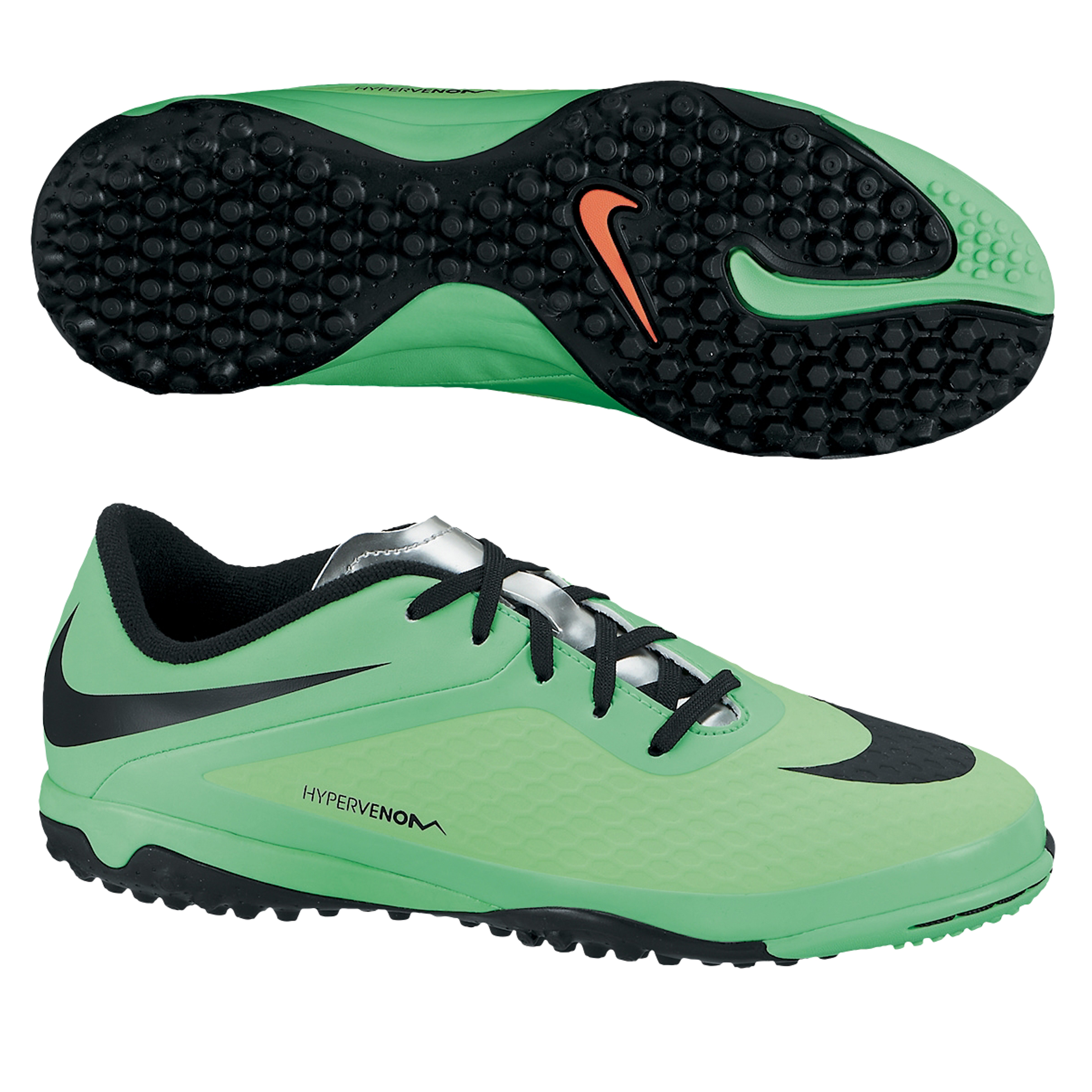Nike Hypervenom Phelon Astroturf Trainers - Kids Green