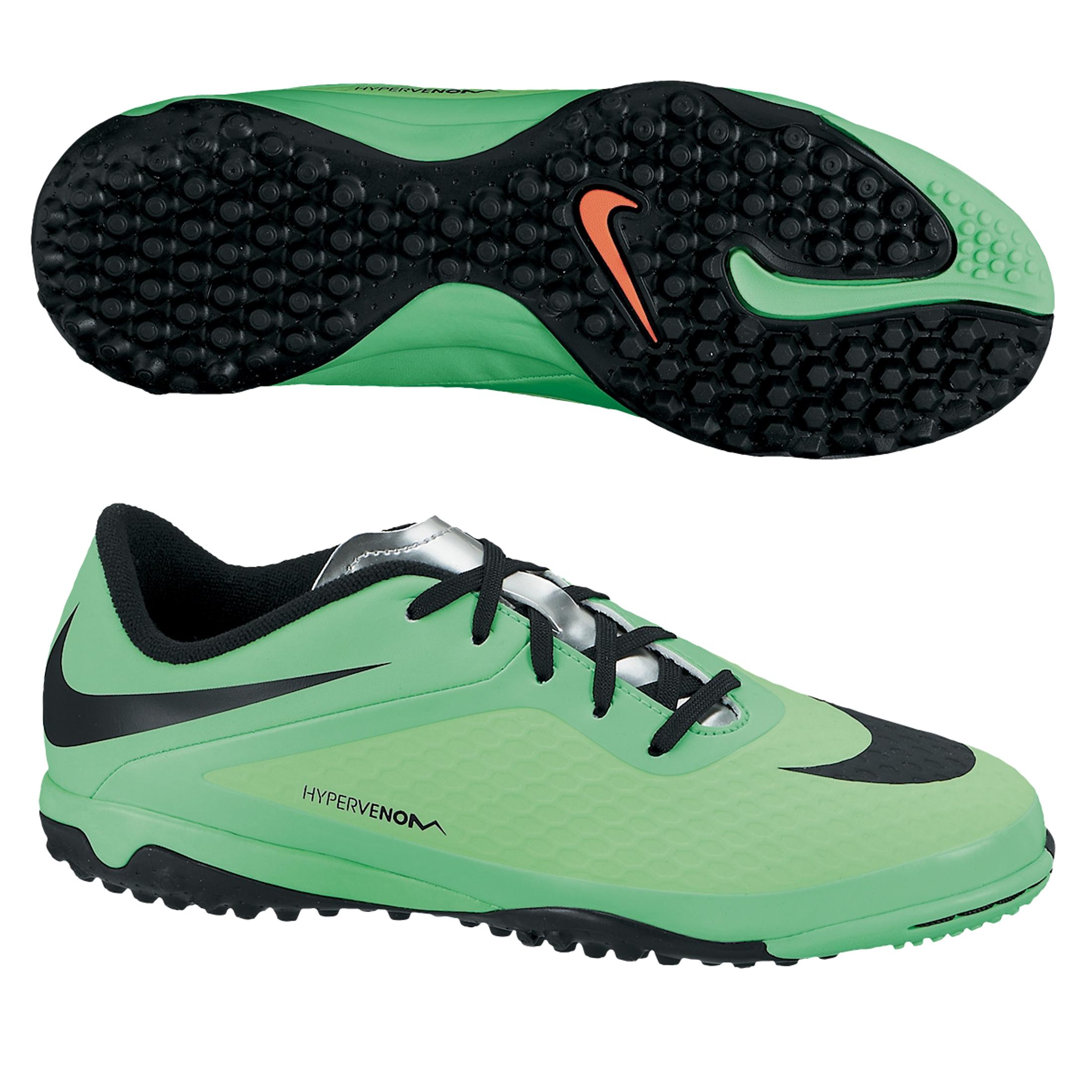 Nike Hypervenom Phelon Astroturf Trainers - Kids Green