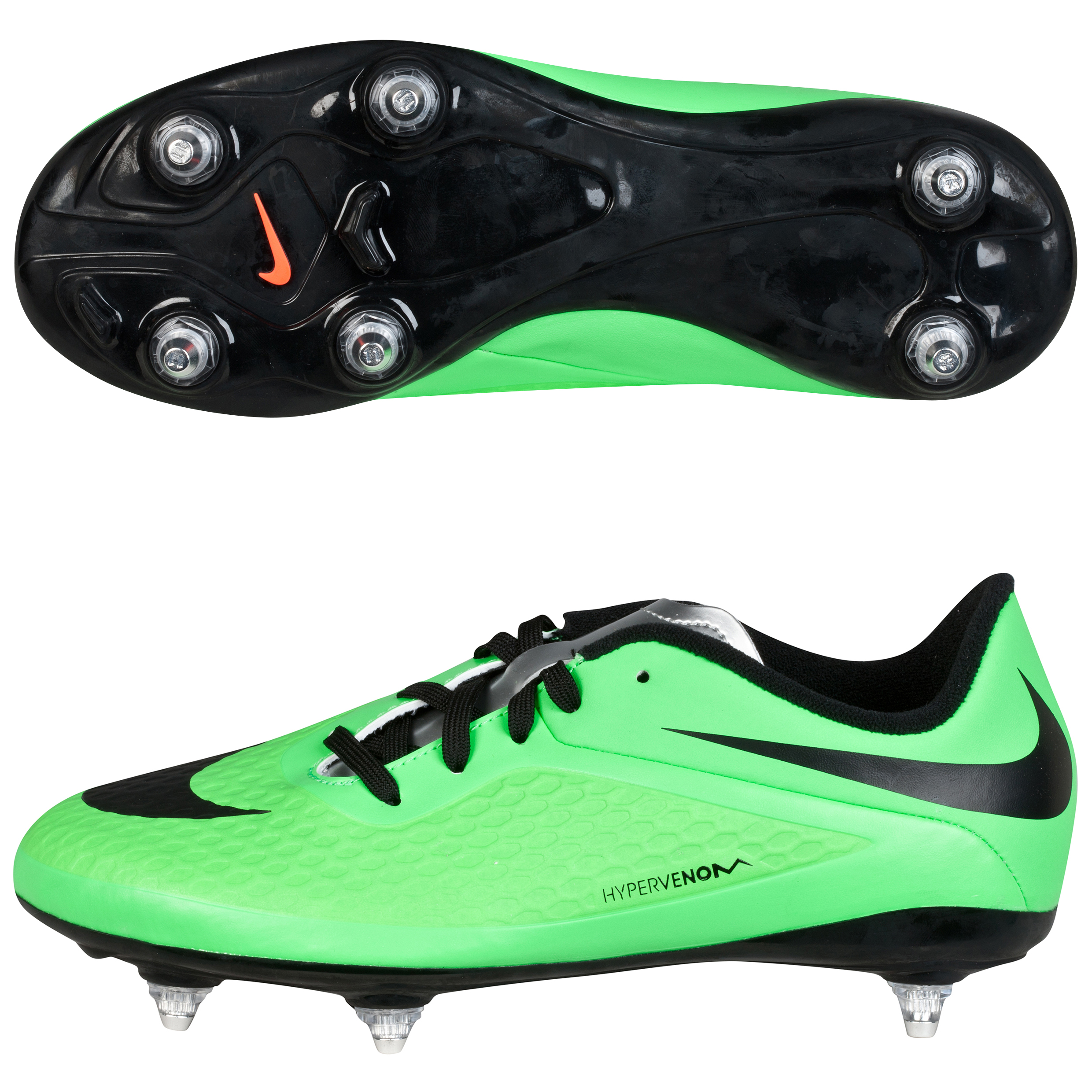 Nike Hypervenom Phelon Soft Ground Football Boots  Kids Green