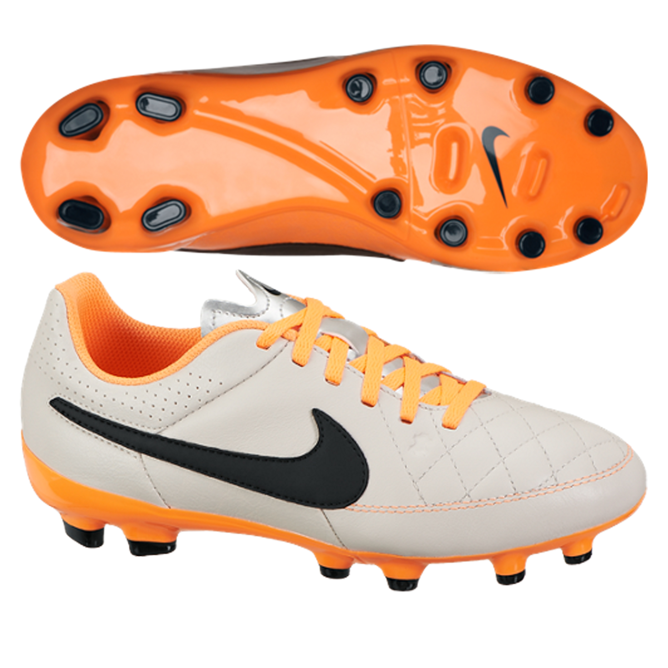 Nike Tiempo Genio Firm Ground Football Boots - Kids Beige